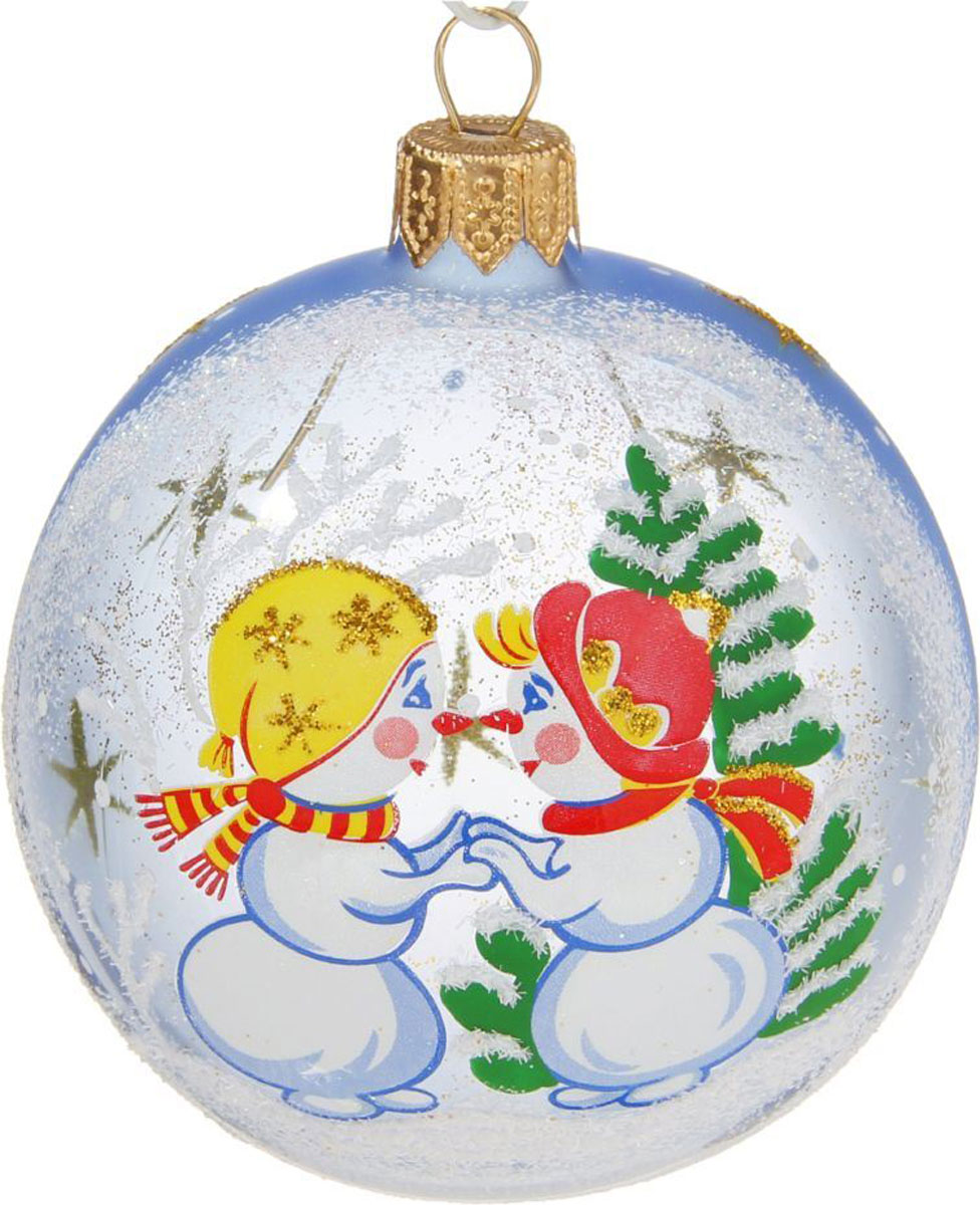 Новогоднее подвесное украшение Ёлочка Снеговички, диаметр 7,5 см1721458Новогоднее подвесное украшение Ёлочка отлично подойдет для декорации вашего дома и новогодней ели. Новогоднее украшение можно повесить в любом понравившемся вам месте. Но, конечно, удачнее всего оно будет смотреться на праздничной елке.Елочная игрушка - символ Нового года. Она несет в себе волшебство и красоту праздника. Такое украшение создаст в вашем доме атмосферу праздника, веселья и радости.