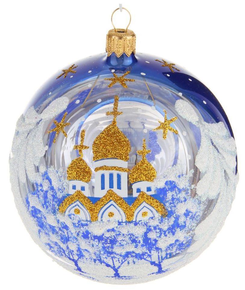 Новогоднее подвесное украшение Ёлочка Золотые купола, диаметр 9,5 см1721470Новогоднее подвесное украшение Ёлочка отлично подойдет для декорации вашего дома и новогодней ели. Новогоднее украшение можно повесить в любом понравившемся вам месте. Но, конечно, удачнее всего оно будет смотреться на праздничной елке.Елочная игрушка - символ Нового года. Она несет в себе волшебство и красоту праздника. Такое украшение создаст в вашем доме атмосферу праздника, веселья и радости.
