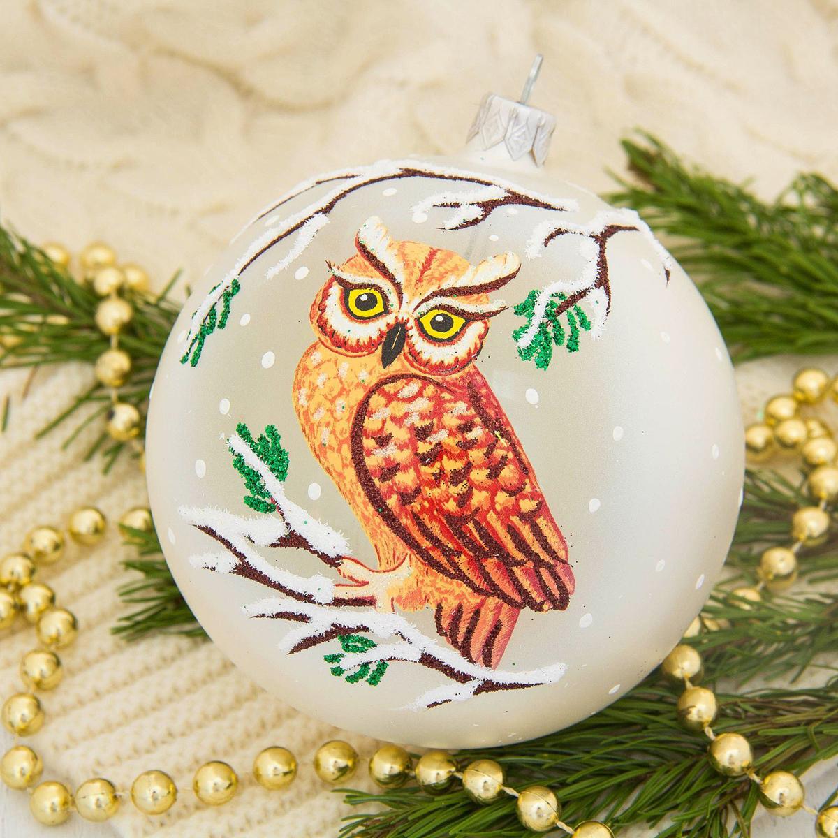 Украшение новогоднее елочное Ёлочка Филин, диаметр 9,5 см1721478Невозможно представить нашу жизнь без праздников! Мы всегда ждём их и предвкушаем, обдумываем, как проведём памятный день, тщательно выбираем подарки и аксессуары, ведь именно они создают и поддерживают торжественный настрой.