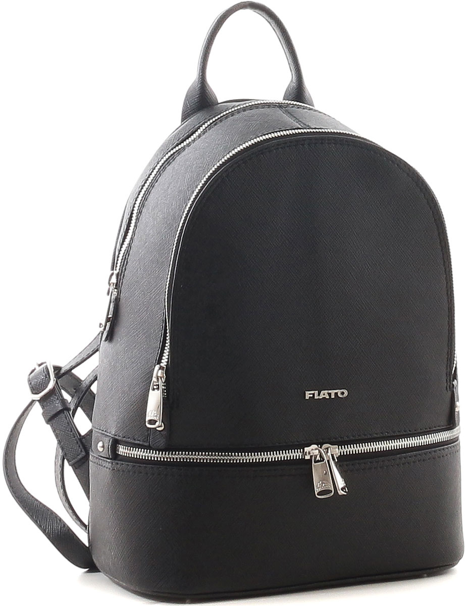 Рюкзак женский Fiato Сафьяно, цвет: черный. 1680
