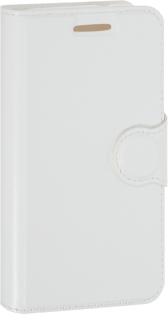 Red Line Book Type чехол для Alcatel One Touch 4034 Pixi 4, White