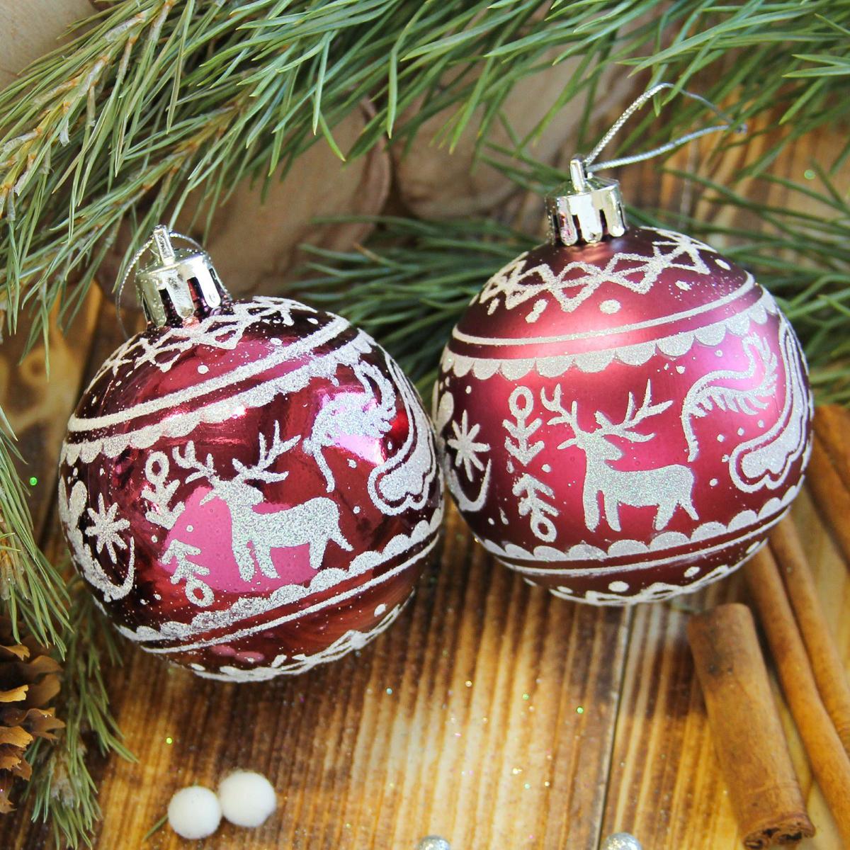 Набор новогодних подвесных украшений Sima-land Зимний олень, цвет: бордовый, диаметр 6 см, 8 шт2122531Набор новогодних подвесных украшений Sima-land отлично подойдет для декорации вашего дома и новогодней ели. С помощью специальной петельки украшение можно повесить в любом понравившемся вам месте. Но, конечно, удачнее всего оно будет смотреться на праздничной елке. Елочная игрушка - символ Нового года. Она несет в себе волшебство и красоту праздника. Создайте в своем доме атмосферу веселья и радости, украшая новогоднюю елку нарядными игрушками, которые будут из года в год накапливать теплоту воспоминаний.