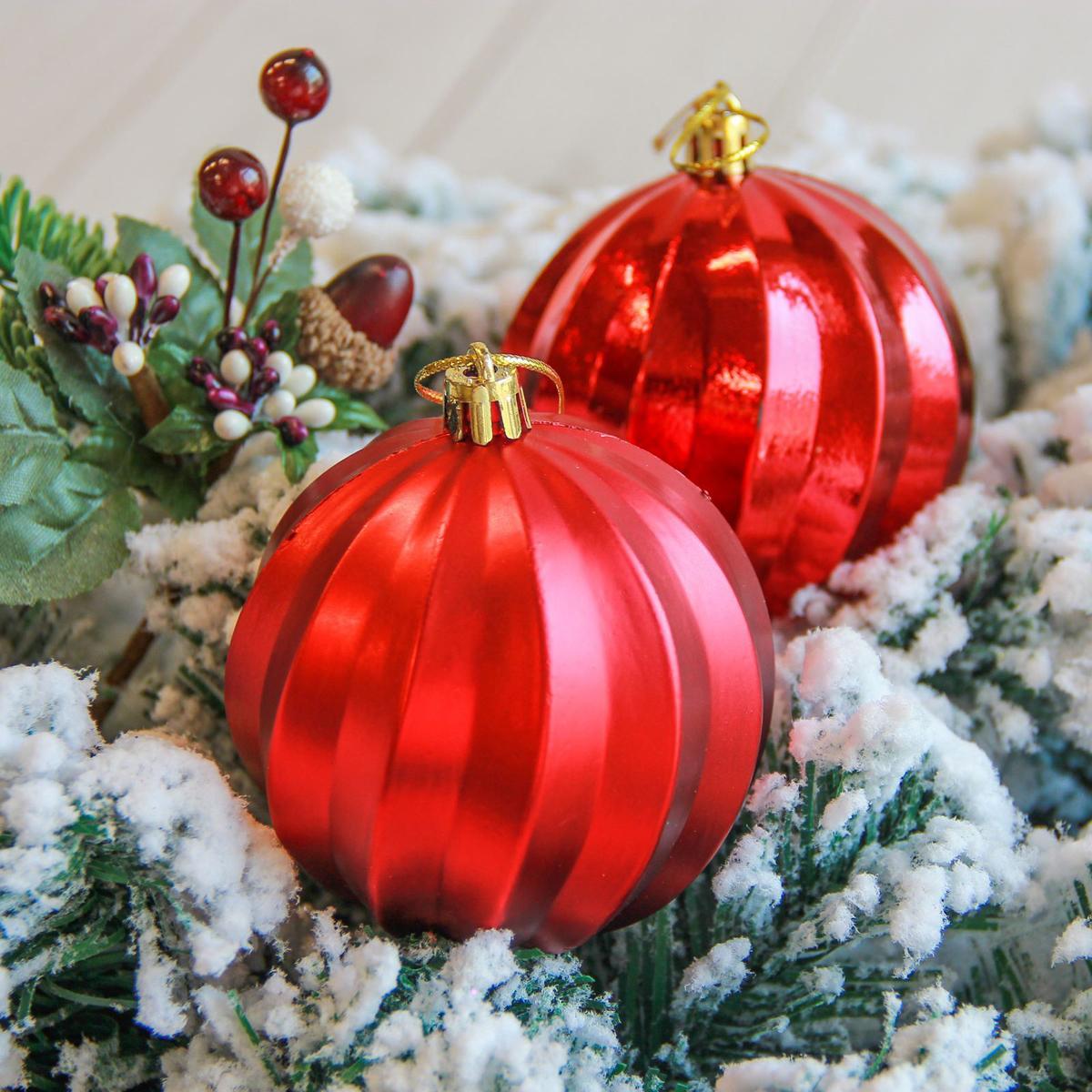 Набор новогодних подвесных украшений Sima-land Пралине, диаметр 8 см, 6 шт2122907Невозможно представить нашу жизнь без праздников! Мы всегда ждём их и предвкушаем, обдумываем, как проведём памятный день, тщательно выбираем подарки и аксессуары, ведь именно они создают и поддерживают торжественный настрой.
