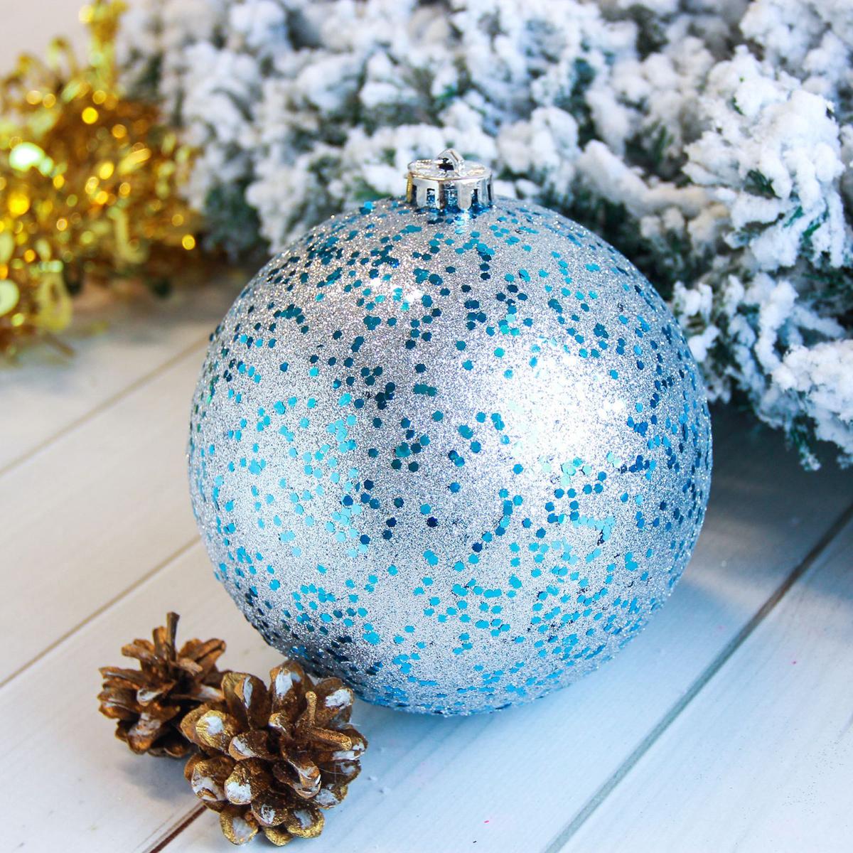 Новогоднее подвесное украшение Sima-land Мега, диаметр 15 см2122919Новогоднее подвесное украшение Sima-land отлично подойдет для декорации вашего дома и новогодней ели. Новогоднее украшение можно повесить в любом понравившемся вам месте. Но, конечно, удачнее всего оно будет смотреться на праздничной елке.Елочная игрушка - символ Нового года. Она несет в себе волшебство и красоту праздника. Такое украшение создаст в вашем доме атмосферу праздника, веселья и радости.