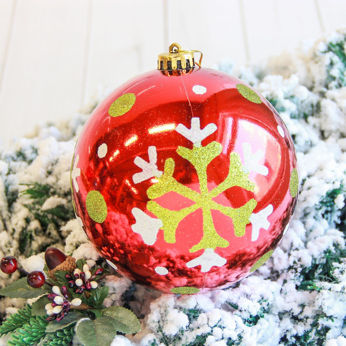 Новогоднее подвесное украшение Sima-land Мега. Снежинка, диаметр 15 см новогоднее подвесное украшение собака ф21 1716
