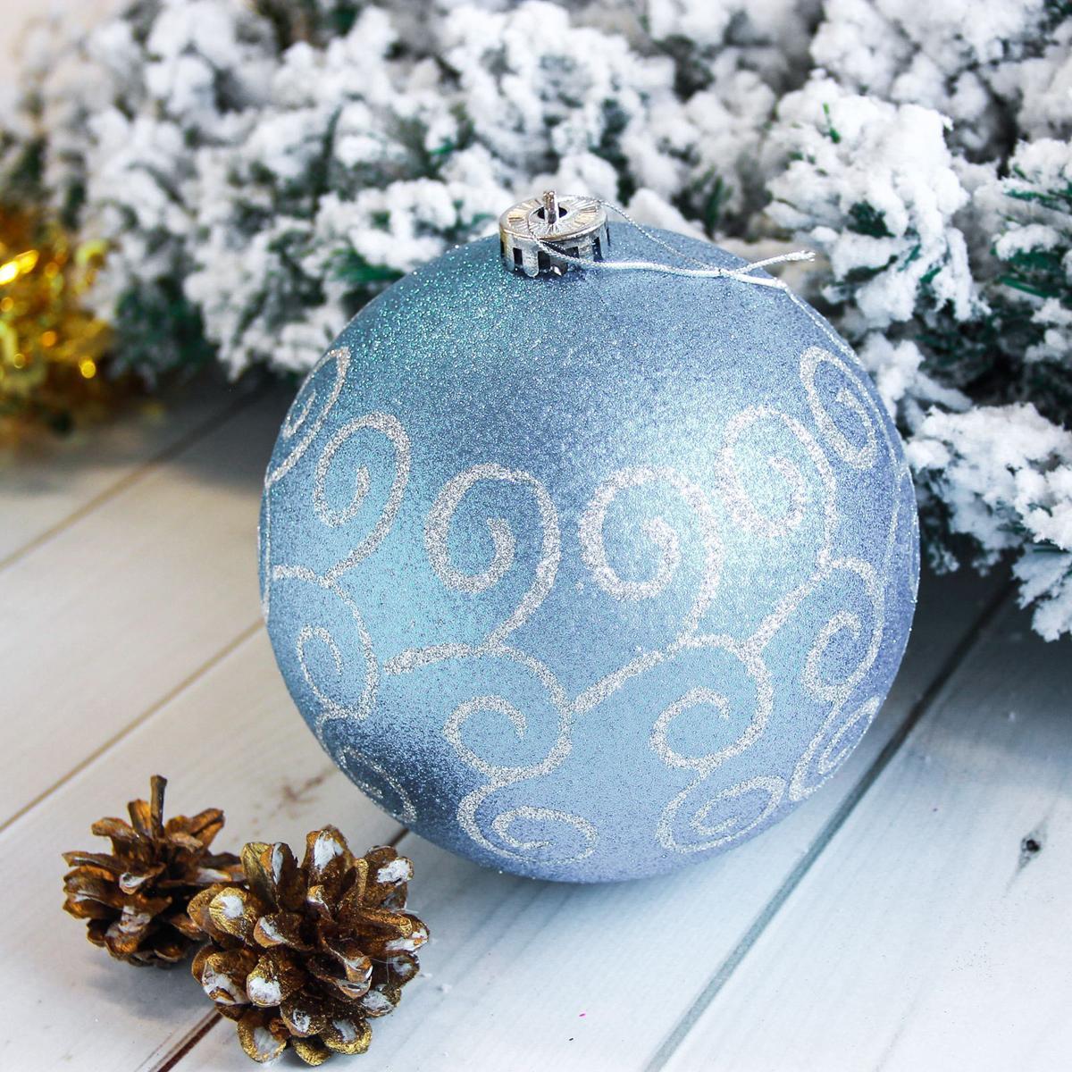 Новогоднее подвесное украшение Sima-land Мега. Узоры, диаметр 15 см новогоднее подвесное украшение собака ф21 1716