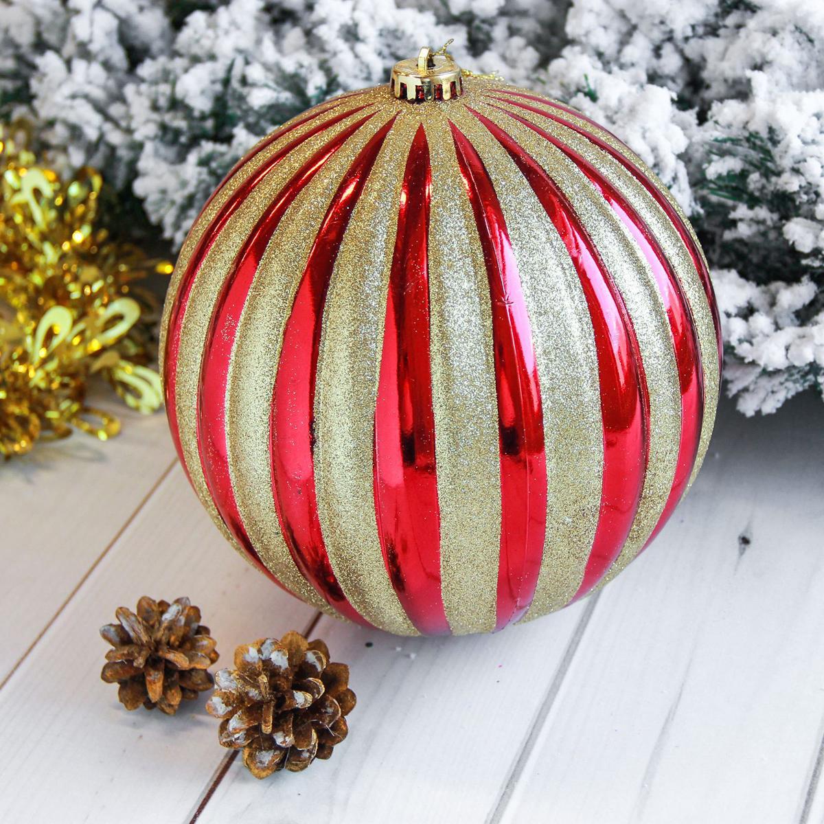 Новогоднее подвесное украшение Sima-land Мега. Полосы, диаметр 20 см. 21229242122924Новогоднее подвесное украшение Sima-land отлично подойдет для декорации вашего дома и новогодней ели. Новогоднее украшение можно повесить в любом понравившемся вам месте. Но, конечно, удачнее всего оно будет смотреться на праздничной елке.Елочная игрушка - символ Нового года. Она несет в себе волшебство и красоту праздника. Такое украшение создаст в вашем доме атмосферу праздника, веселья и радости.