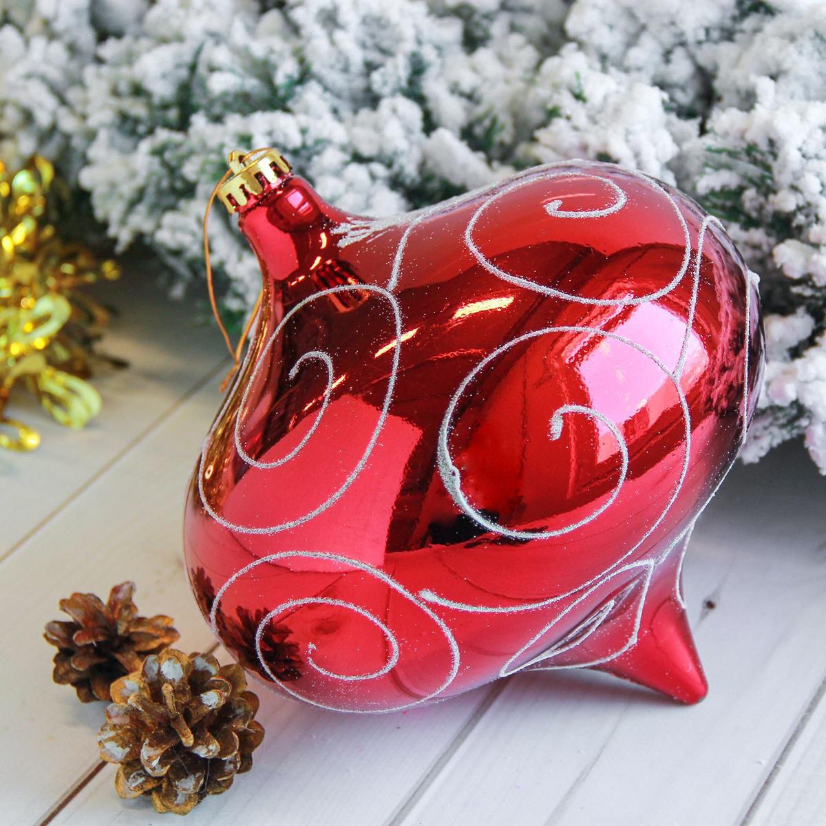 Новогоднее подвесное украшение Sima-land Мега луковица, 20 см2122926Новогоднее подвесное украшение Sima-land отлично подойдет для декорации вашего дома и новогодней ели. Новогоднее украшение можно повесить в любом понравившемся вам месте. Но, конечно, удачнее всего оно будет смотреться на праздничной елке.Елочная игрушка - символ Нового года. Она несет в себе волшебство и красоту праздника. Такое украшение создаст в вашем доме атмосферу праздника, веселья и радости.