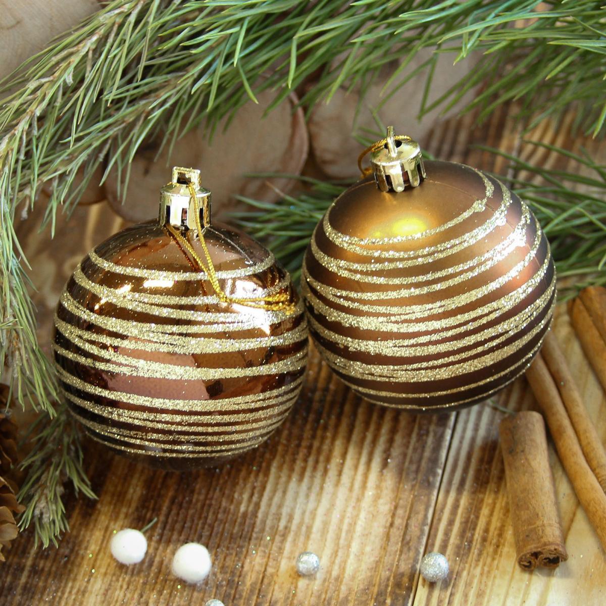 Набор новогодних подвесных украшений Sima-land Полосы, диаметр 6 см, 8 шт2122932Набор новогодних подвесных украшений Sima-land отлично подойдет для декорации вашего дома и новогодней ели. С помощью специальной петельки украшение можно повесить в любом понравившемся вам месте. Но, конечно, удачнее всего оно будет смотреться на праздничной елке. Елочная игрушка - символ Нового года. Она несет в себе волшебство и красоту праздника. Создайте в своем доме атмосферу веселья и радости, украшая новогоднюю елку нарядными игрушками, которые будут из года в год накапливать теплоту воспоминаний.
