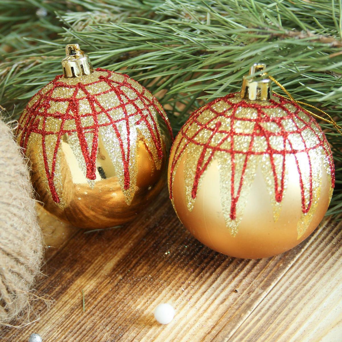 Набор новогодних подвесных украшений Sima-land Блюз, цвет: желтый, диаметр 7 см, 6 шт2122936Набор новогодних подвесных украшений Sima-land отлично подойдет для декорации вашего дома и новогодней ели. С помощью специальной петельки украшение можно повесить в любом понравившемся вам месте. Но, конечно, удачнее всего оно будет смотреться на праздничной елке. Елочная игрушка - символ Нового года. Она несет в себе волшебство и красоту праздника. Создайте в своем доме атмосферу веселья и радости, украшая новогоднюю елку нарядными игрушками, которые будут из года в год накапливать теплоту воспоминаний.
