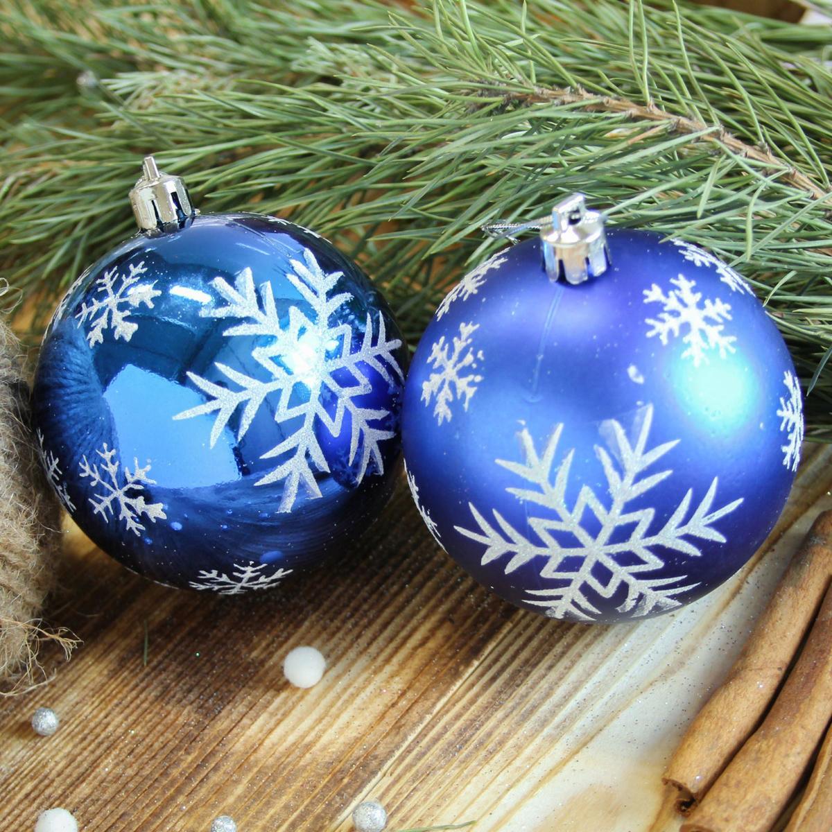 Набор новогодних подвесных украшений Sima-land Снегопад, цвет: синий, диаметр 8 см, 6 шт2122964Набор новогодних подвесных украшений Sima-land отлично подойдет для декорации вашего дома и новогодней ели. С помощью специальной петельки украшение можно повесить в любом понравившемся вам месте. Но, конечно, удачнее всего оно будет смотреться на праздничной елке. Елочная игрушка - символ Нового года. Она несет в себе волшебство и красоту праздника. Создайте в своем доме атмосферу веселья и радости, украшая новогоднюю елку нарядными игрушками, которые будут из года в год накапливать теплоту воспоминаний.