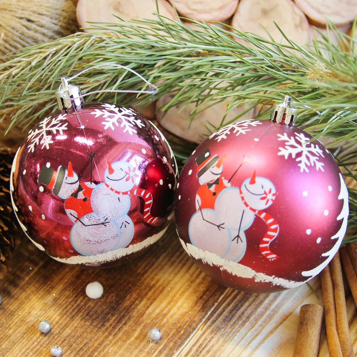 Набор новогодних подвесных украшений Sima-land Веселый снеговик, диаметр 8 см, 6 шт2122967Набор новогодних подвесных украшений Sima-land отлично подойдет для декорации вашего дома и новогодней ели. С помощью специальной петельки украшение можно повесить в любом понравившемся вам месте. Но, конечно, удачнее всего оно будет смотреться на праздничной елке. Елочная игрушка - символ Нового года. Она несет в себе волшебство и красоту праздника. Создайте в своем доме атмосферу веселья и радости, украшая новогоднюю елку нарядными игрушками, которые будут из года в год накапливать теплоту воспоминаний.