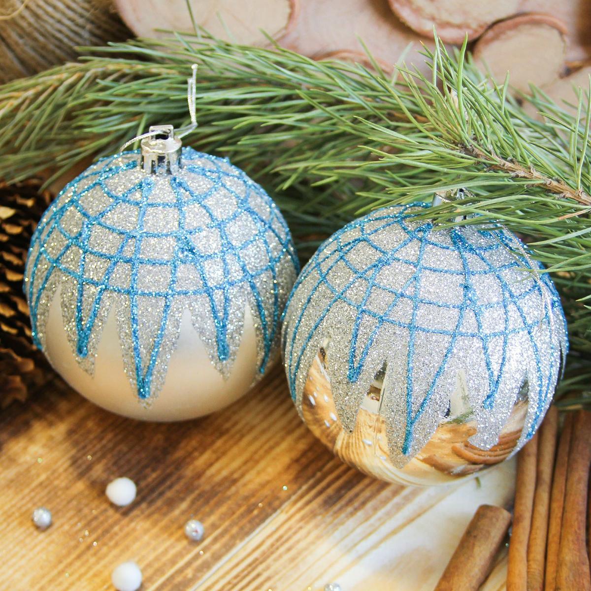 Набор новогодних подвесных украшений Sima-land Блюз, диаметр 8 см, 6 шт2122977Набор новогодних подвесных украшений Sima-land отлично подойдет для декорации вашего дома и новогодней ели. С помощью специальной петельки украшение можно повесить в любом понравившемся вам месте. Но, конечно, удачнее всего оно будет смотреться на праздничной елке. Елочная игрушка - символ Нового года. Она несет в себе волшебство и красоту праздника. Создайте в своем доме атмосферу веселья и радости, украшая новогоднюю елку нарядными игрушками, которые будут из года в год накапливать теплоту воспоминаний.