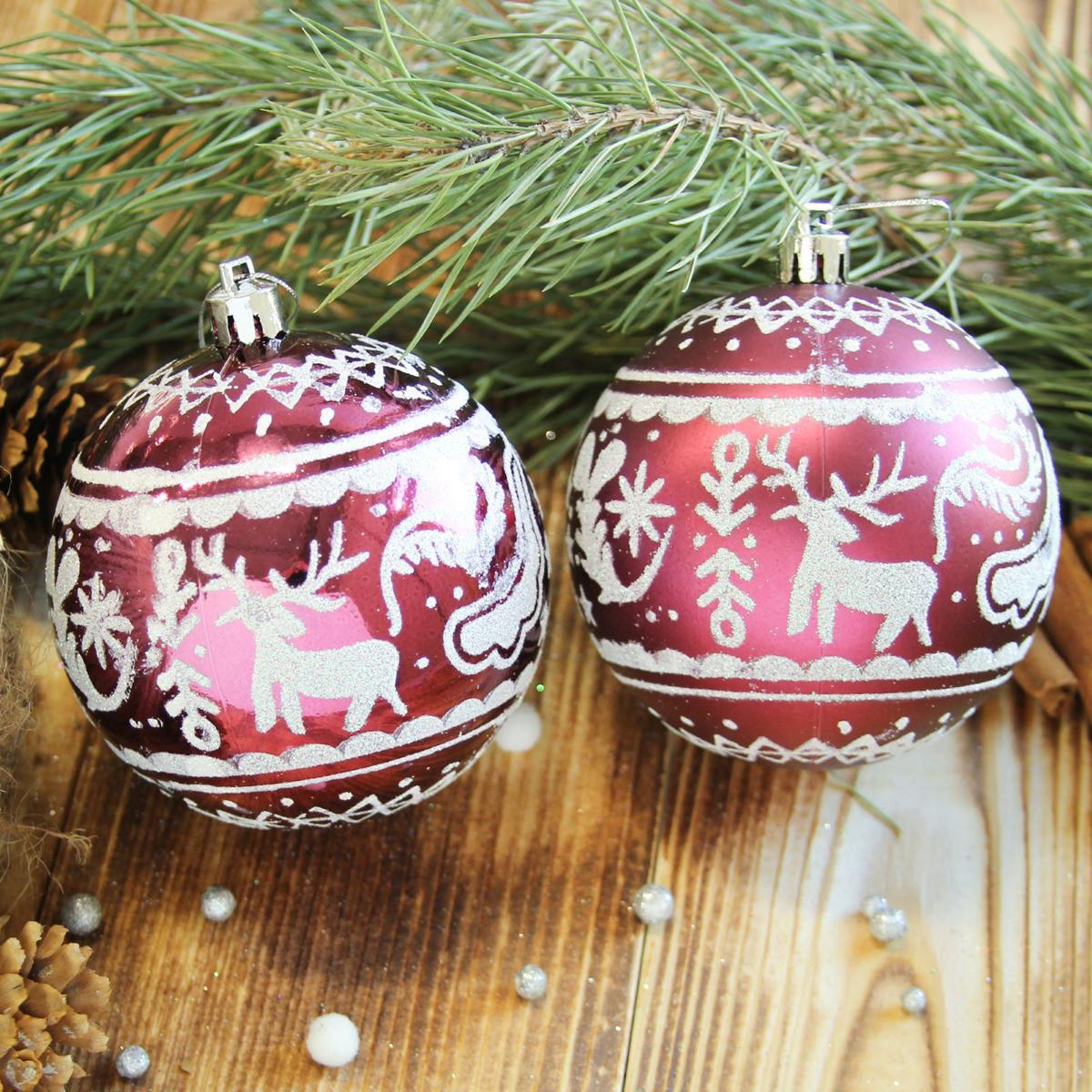Набор новогодних подвесных украшений Sima-land Зимний олень, цвет: бордовый, диаметр 8 см, 6 шт2122982Набор новогодних подвесных украшений Sima-land отлично подойдет для декорации вашего дома и новогодней ели. С помощью специальной петельки украшение можно повесить в любом понравившемся вам месте. Но, конечно, удачнее всего оно будет смотреться на праздничной елке. Елочная игрушка - символ Нового года. Она несет в себе волшебство и красоту праздника. Создайте в своем доме атмосферу веселья и радости, украшая новогоднюю елку нарядными игрушками, которые будут из года в год накапливать теплоту воспоминаний.