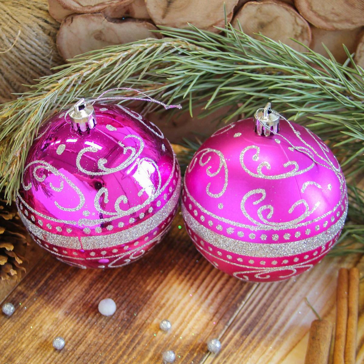 Набор новогодних подвесных украшений Sima-land Метель, цвет: малиновый, диаметр 8 см, 6 шт2122985Набор новогодних подвесных украшений Sima-land отлично подойдет для декорации вашего дома и новогодней ели. С помощью специальной петельки украшение можно повесить в любом понравившемся вам месте. Но, конечно, удачнее всего оно будет смотреться на праздничной елке. Елочная игрушка - символ Нового года. Она несет в себе волшебство и красоту праздника. Создайте в своем доме атмосферу веселья и радости, украшая новогоднюю елку нарядными игрушками, которые будут из года в год накапливать теплоту воспоминаний.