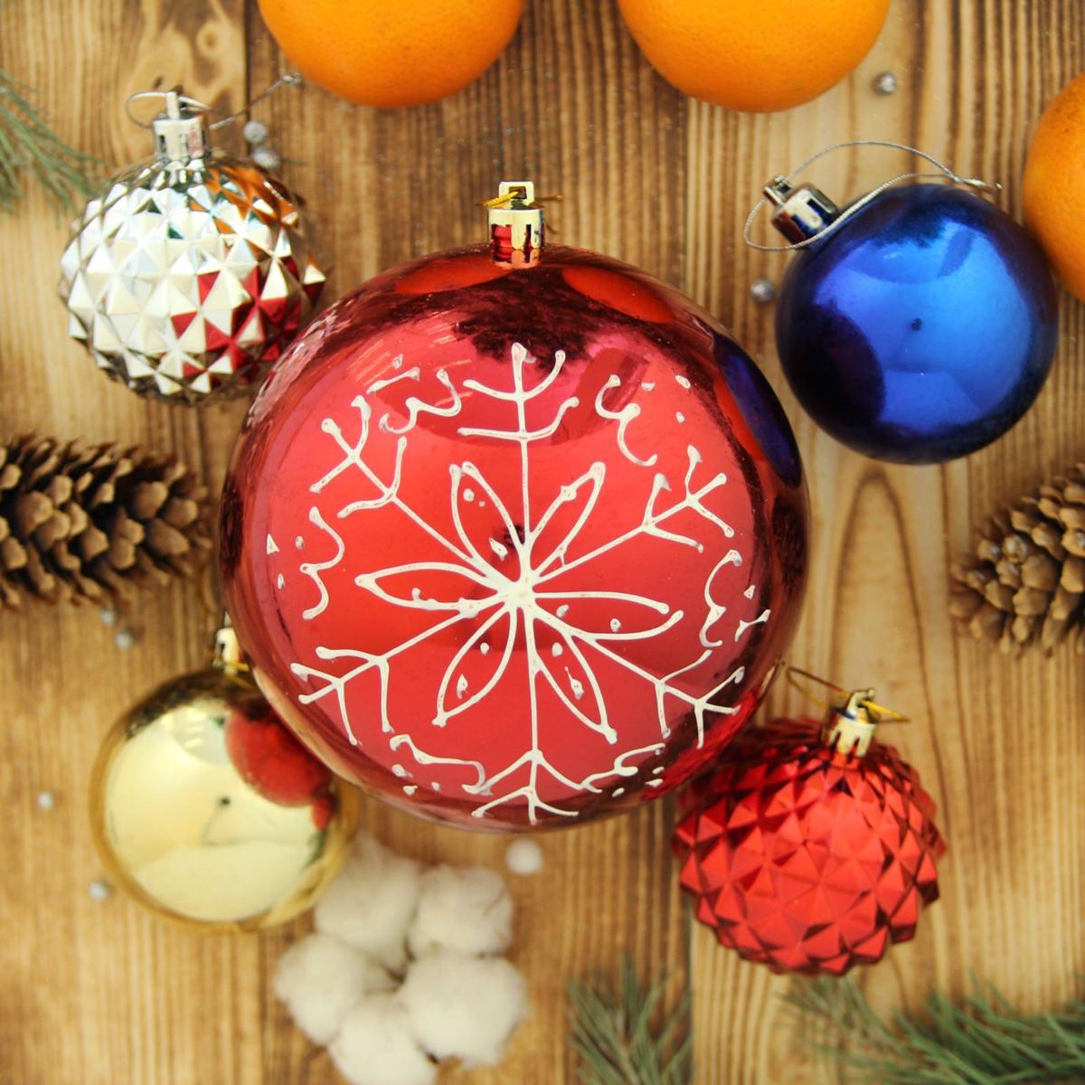 Набор новогодних подвесных украшений Sima-land Снежинка, 17 шт кармашки на стену sima land люблю школу цвет красный желтый коричневый 5 шт