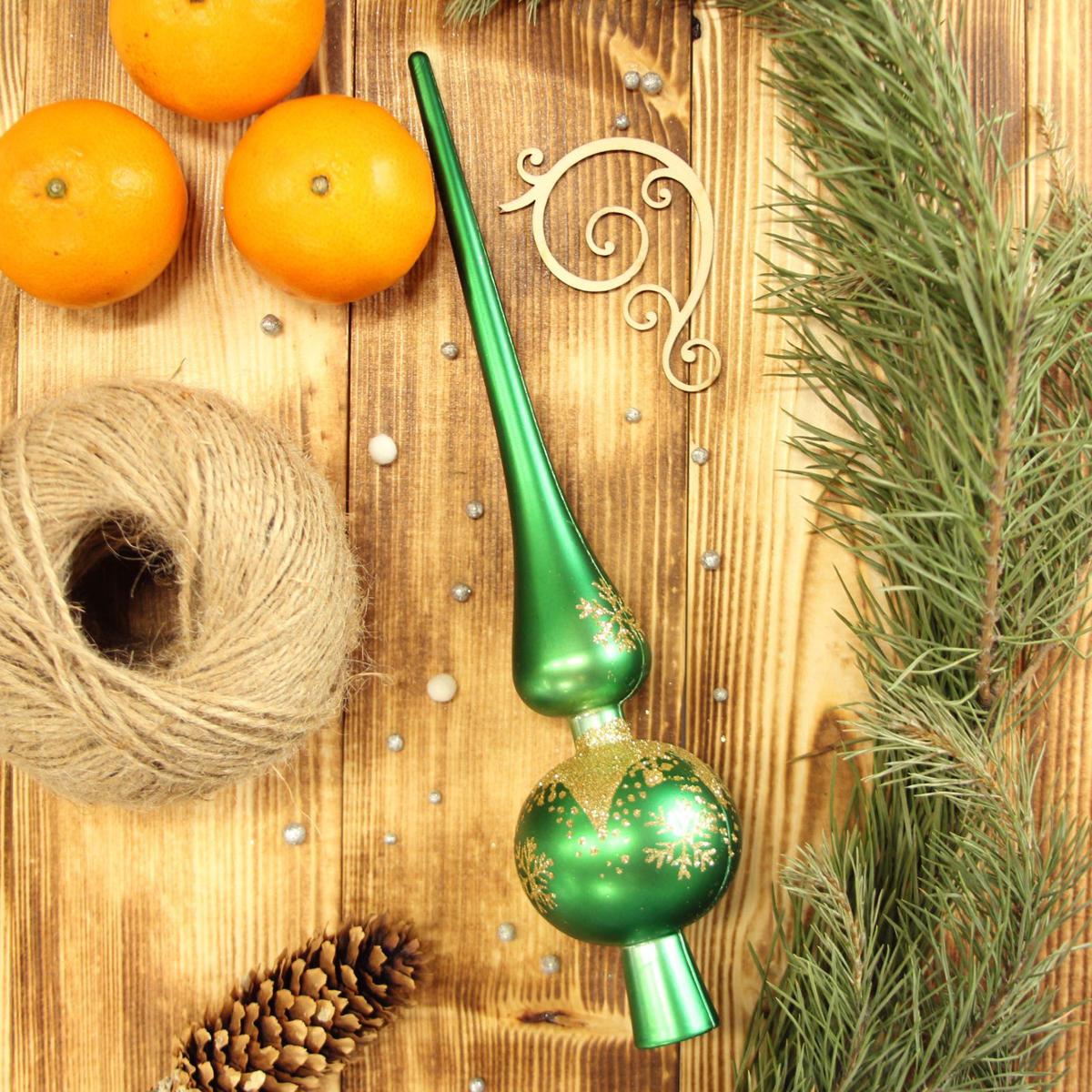 Верхушка на елку Sima-land Снежинка, 27,5 см2123051Верхушка на елку Sima-land будет прекрасно смотреться на новогодней еле. Верхушка на елку - одно из главных новогодних украшений лесной красавицы. Она принесет в ваш дом ни с чем не сравнимое ощущение праздника! Новогодние украшения несут в себе волшебство. Они помогут вам украсить дом к предстоящим праздникам и оживить интерьер по вашему вкусу. Создайте в доме атмосферу тепла, веселья и радости, украшая его всей семьей.