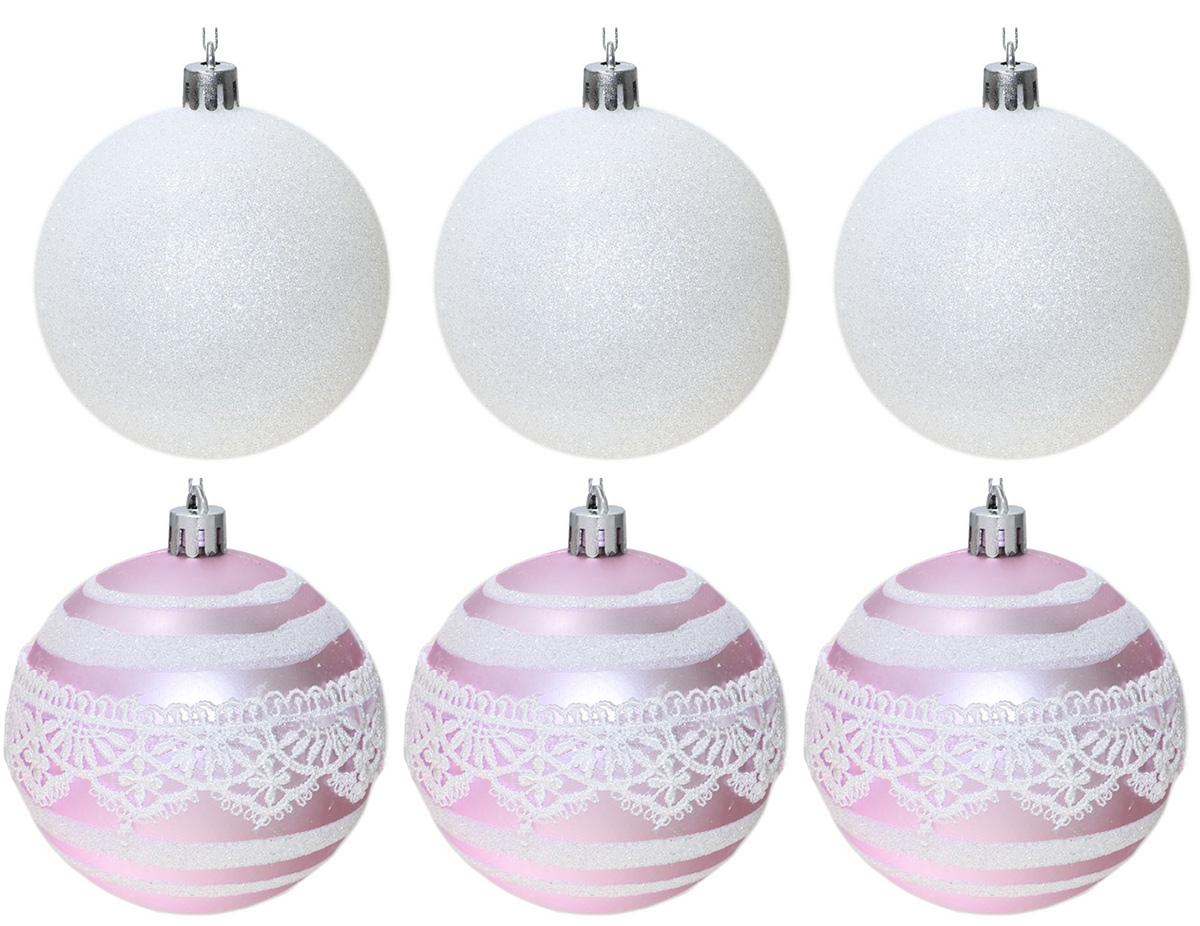 Набор новогодних подвесных украшений Sima-land Индиго. Кружева, диаметр 8 см, 6 шт свеча ароматизированная sima land лимон на подставке высота 6 см