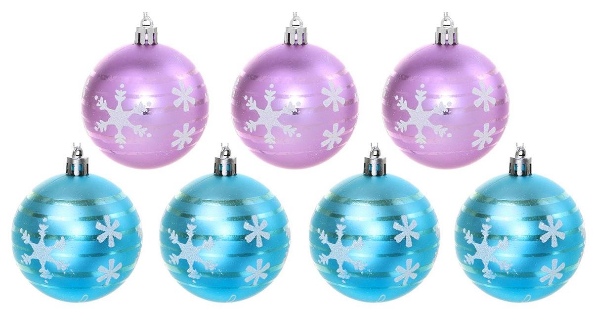 Набор новогодних подвесных украшений Sima-land Рассвет. Снежинка, диаметр 7 см, 7 шт2131361Набор новогодних подвесных украшений Sima-land отлично подойдет для декорации вашего дома и новогодней ели. С помощью специальной петельки украшение можно повесить в любом понравившемся вам месте. Но, конечно, удачнее всего оно будет смотреться на праздничной елке. Елочная игрушка - символ Нового года. Она несет в себе волшебство и красоту праздника. Создайте в своем доме атмосферу веселья и радости, украшая новогоднюю елку нарядными игрушками, которые будут из года в год накапливать теплоту воспоминаний.