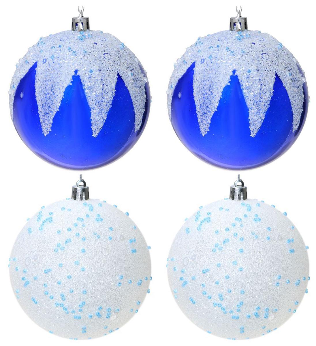 Набор новогодних подвесных украшений Sima-land Посыпка, диаметр 10 см, 4 шт2131379Набор новогодних подвесных украшений Sima-land отлично подойдет для декорации вашего дома и новогодней ели. С помощью специальной петельки украшение можно повесить в любом понравившемся вам месте. Но, конечно, удачнее всего оно будет смотреться на праздничной елке. Елочная игрушка - символ Нового года. Она несет в себе волшебство и красоту праздника. Создайте в своем доме атмосферу веселья и радости, украшая новогоднюю елку нарядными игрушками, которые будут из года в год накапливать теплоту воспоминаний.