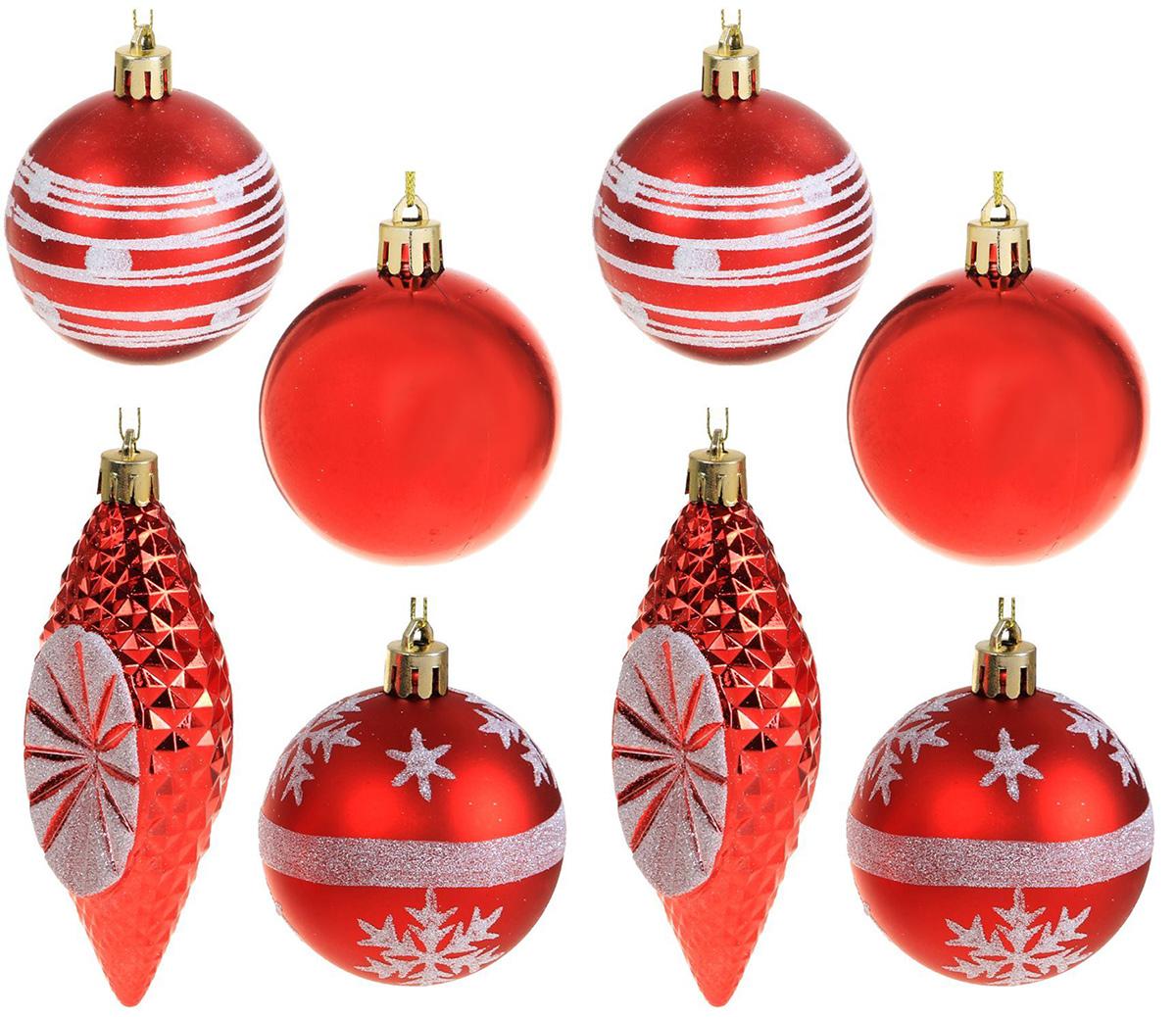 Набор новогодних подвесных украшений Sima-land Красный с сосульками, 6 см, 6 шт2131446Набор новогодних подвесных украшений Sima-land отлично подойдет для декорации вашего дома и новогодней ели. Новогодние украшения можно повесить в любом понравившемся вам месте. Но, конечно, удачнее всего они будет смотреться на праздничной елке.Елочная игрушка - символ Нового года. Она несет в себе волшебство и красоту праздника. Такое украшение создаст в вашем доме атмосферу праздника, веселья и радости.