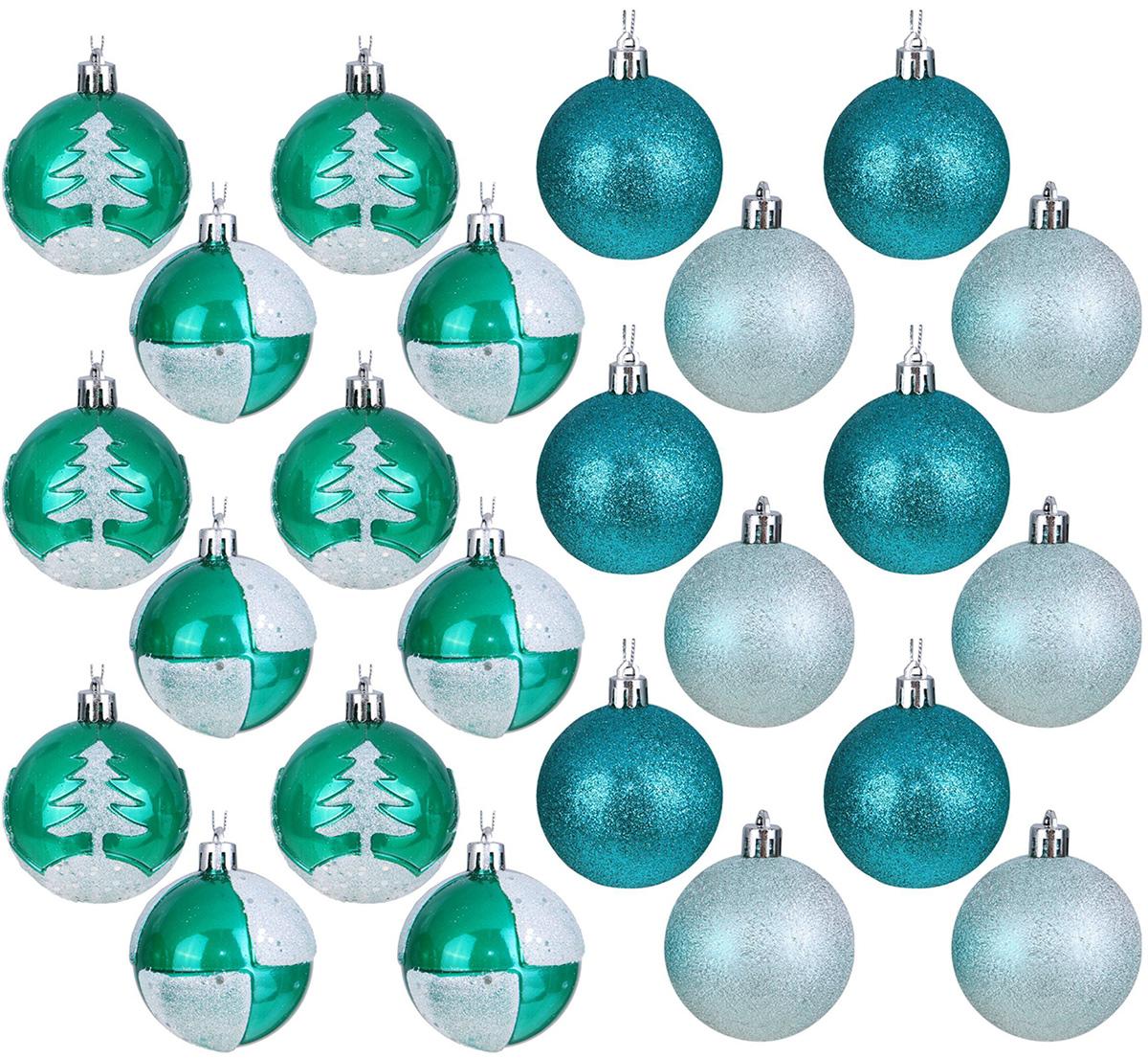 Набор новогодних подвесных украшений Sima-land Изумрудик, диаметр 6 см, 24 шт2131456Набор новогодних подвесных украшений Sima-land отлично подойдет для декорации вашего дома и новогодней ели. С помощью специальной петельки украшение можно повесить в любом понравившемся вам месте. Но, конечно, удачнее всего оно будет смотреться на праздничной елке. Елочная игрушка - символ Нового года. Она несет в себе волшебство и красоту праздника. Создайте в своем доме атмосферу веселья и радости, украшая новогоднюю елку нарядными игрушками, которые будут из года в год накапливать теплоту воспоминаний.