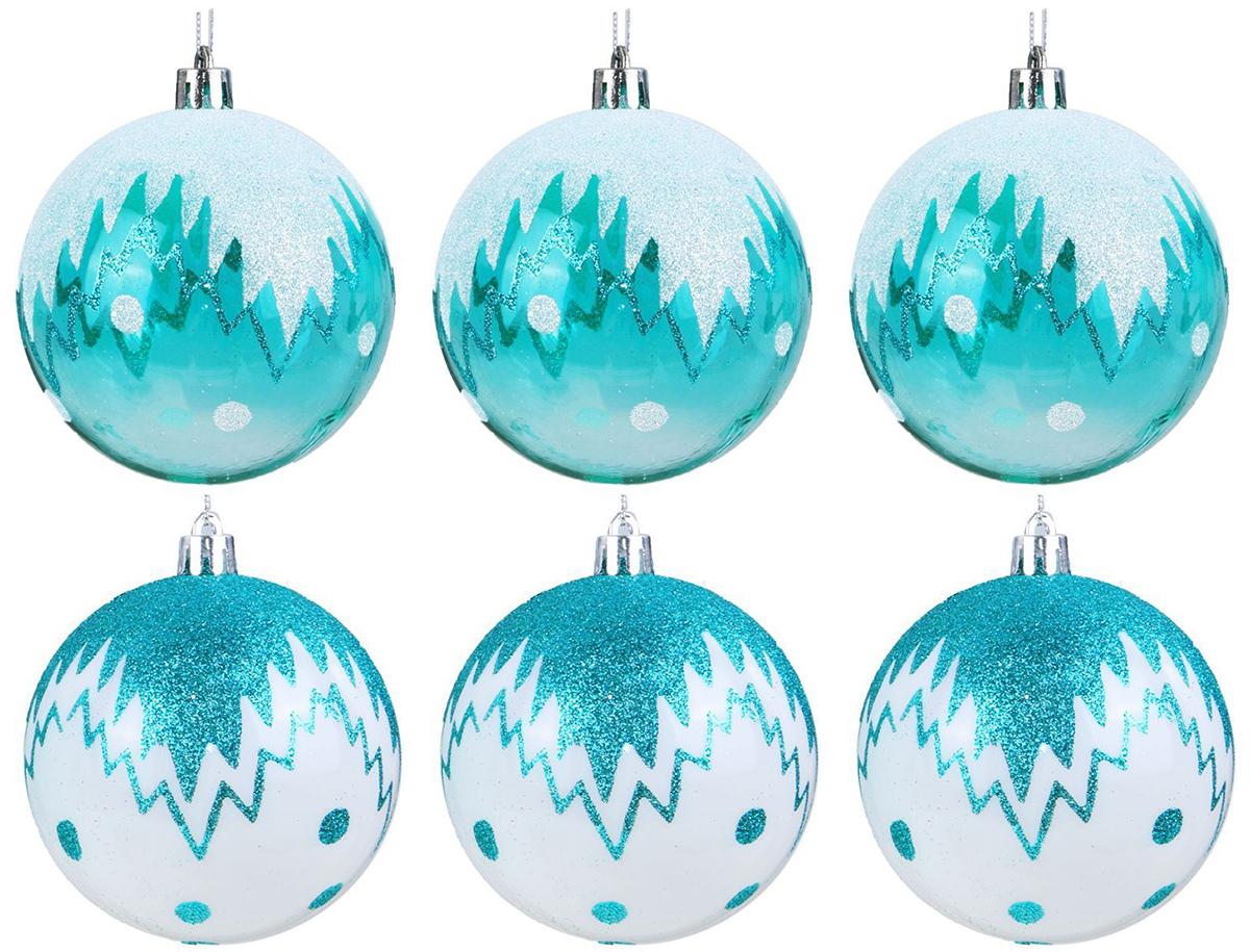 Набор новогодних подвесных украшений Sima-land Изумрудик. Снежный рисунок, диаметр 8 см, 6 шт2131461Набор новогодних подвесных украшений Sima-land отлично подойдет для декорации вашего дома и новогодней ели. С помощью специальной петельки украшение можно повесить в любом понравившемся вам месте. Но, конечно, удачнее всего оно будет смотреться на праздничной елке. Елочная игрушка - символ Нового года. Она несет в себе волшебство и красоту праздника. Создайте в своем доме атмосферу веселья и радости, украшая новогоднюю елку нарядными игрушками, которые будут из года в год накапливать теплоту воспоминаний.