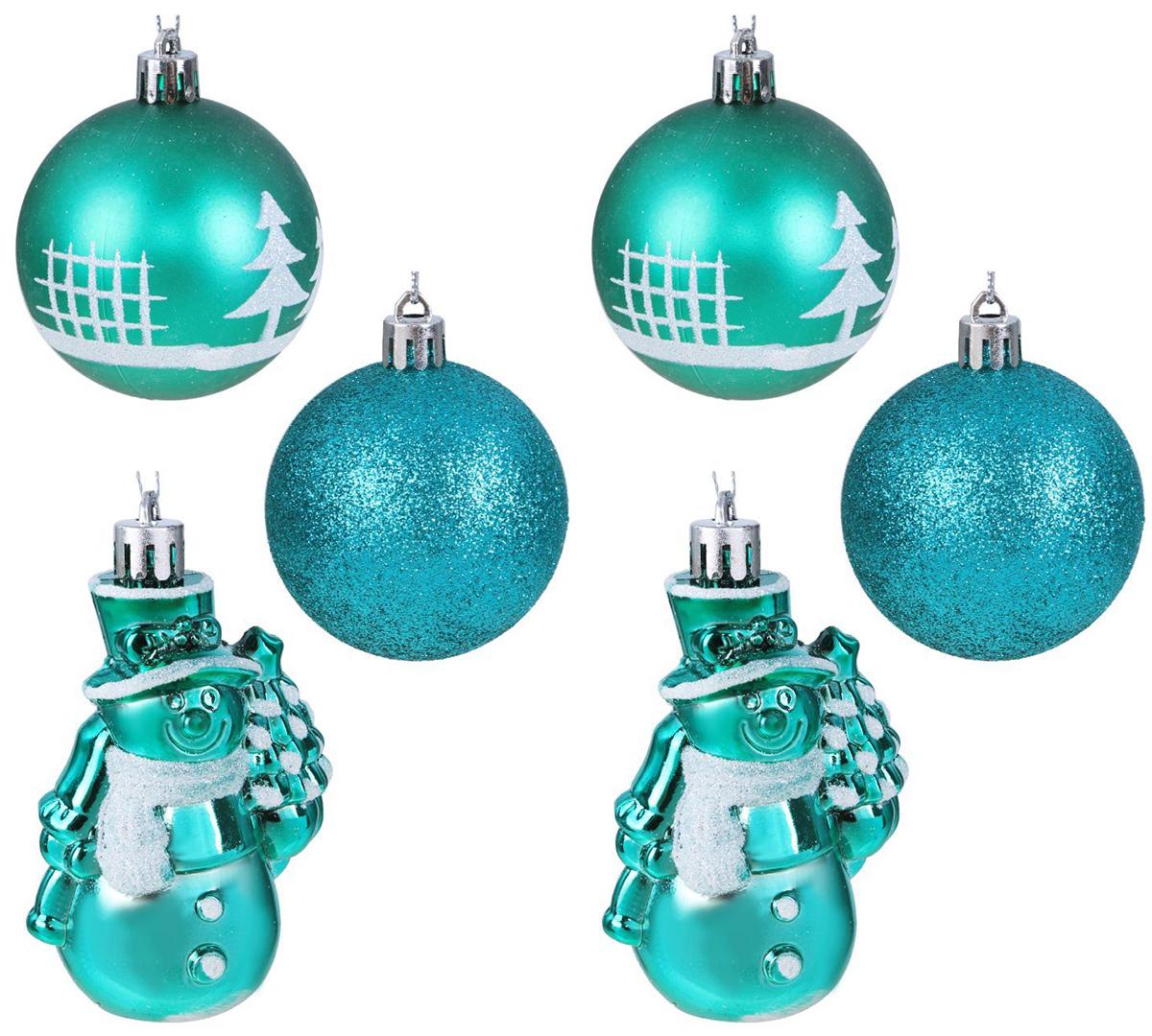 Набор новогодних подвесных украшений Sima-land Изумрудик. С снеговиком, 6 см, 6 шт2131473Набор новогодних подвесных украшений Sima-land отлично подойдет для декорации вашего дома и новогодней ели. Новогодние украшения можно повесить в любом понравившемся вам месте. Но, конечно, удачнее всего они будет смотреться на праздничной елке.Елочная игрушка - символ Нового года. Она несет в себе волшебство и красоту праздника. Такое украшение создаст в вашем доме атмосферу праздника, веселья и радости.