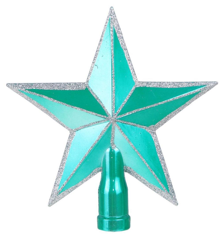 Верхушка на елку Sima-land Звезда. Изумрудик, окантовка, 15 см