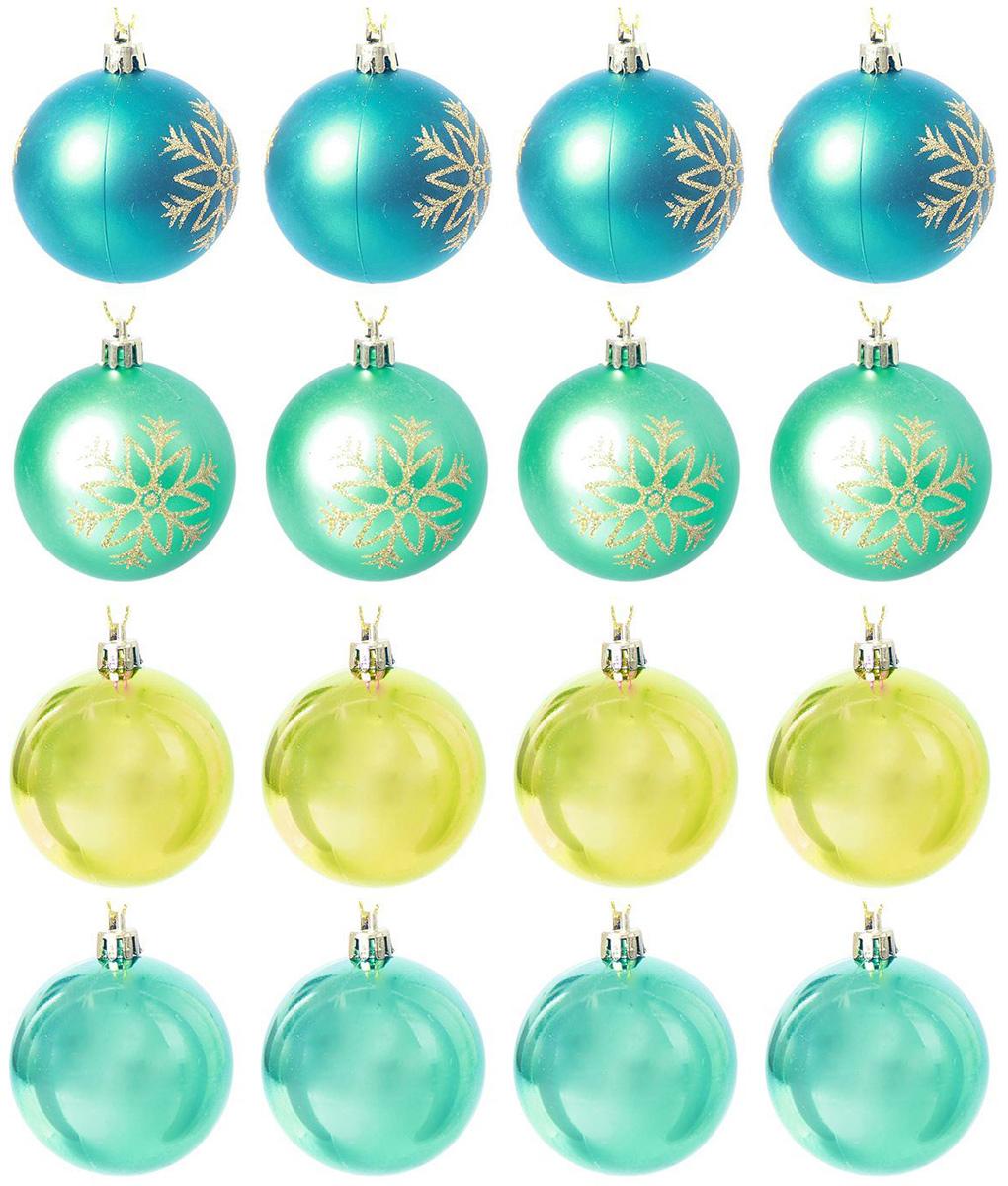 Набор новогодних подвесных украшений Sima-land Снежинка, диаметр 6 см, 12 шт. 2137129 свеча ароматизированная sima land лимон на подставке высота 6 см