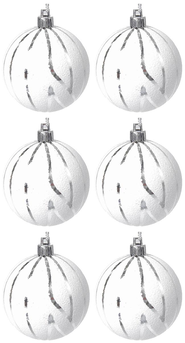 Набор новогодних подвесных украшений Sima-land Снег. Полосы, диаметр 6 см, 6 шт2137150Набор новогодних подвесных украшений Sima-land отлично подойдет для декорации вашего дома и новогодней ели. С помощью специальной петельки украшение можно повесить в любом понравившемся вам месте. Но, конечно, удачнее всего оно будет смотреться на праздничной елке. Елочная игрушка - символ Нового года. Она несет в себе волшебство и красоту праздника. Создайте в своем доме атмосферу веселья и радости, украшая новогоднюю елку нарядными игрушками, которые будут из года в год накапливать теплоту воспоминаний.