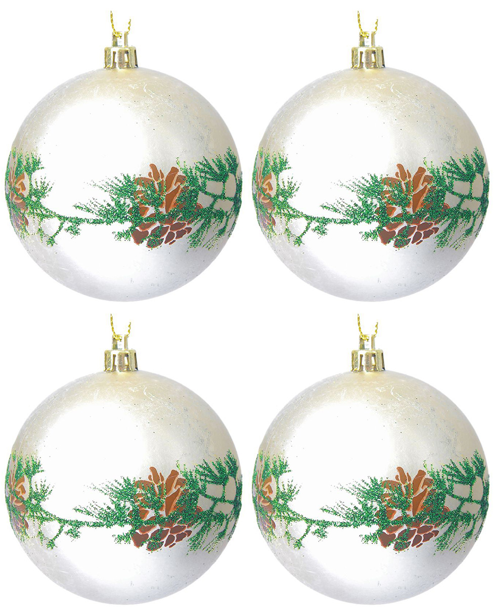 Набор новогодних подвесных украшений Sima-land Еловая веточка. Шишка, диаметр 8 см, 4 шт2137176Набор новогодних подвесных украшений Sima-land отлично подойдет для декорации вашего дома и новогодней ели. С помощью специальной петельки украшение можно повесить в любом понравившемся вам месте. Но, конечно, удачнее всего оно будет смотреться на праздничной елке. Елочная игрушка - символ Нового года. Она несет в себе волшебство и красоту праздника. Создайте в своем доме атмосферу веселья и радости, украшая новогоднюю елку нарядными игрушками, которые будут из года в год накапливать теплоту воспоминаний.