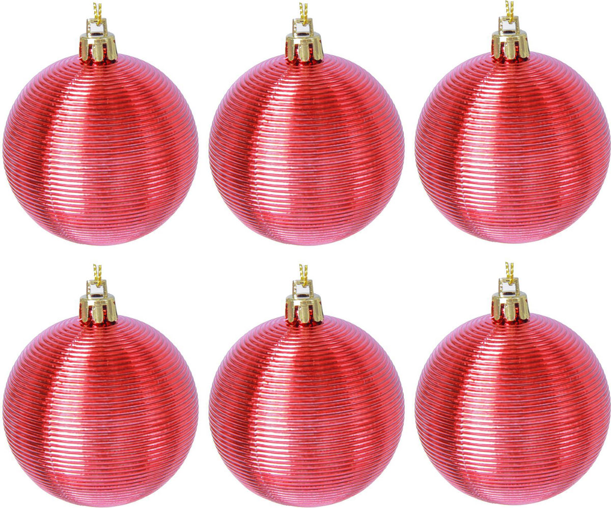 Набор новогодних подвесных украшений Sima-land Таласса, цвет: красный, диаметр 6 см, 6 шт2137189Набор новогодних подвесных украшений Sima-land отлично подойдет для декорации вашего дома и новогодней ели. С помощью специальной петельки украшение можно повесить в любом понравившемся вам месте. Но, конечно, удачнее всего оно будет смотреться на праздничной елке. Елочная игрушка - символ Нового года. Она несет в себе волшебство и красоту праздника. Создайте в своем доме атмосферу веселья и радости, украшая новогоднюю елку нарядными игрушками, которые будут из года в год накапливать теплоту воспоминаний.
