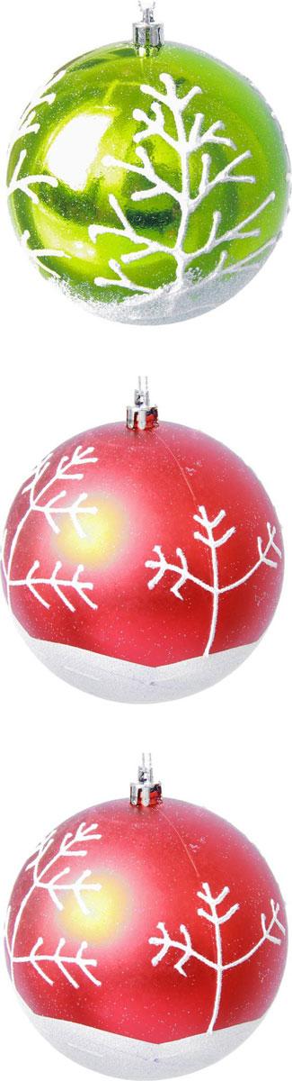 Набор новогодних подвесных украшений Sima-land Зимнее деревце, диаметр 10 см, 3 шт кармашки на стену для бани sima land банные мелочи цвет белый 3 шт