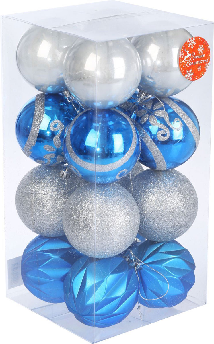 Набор новогодних подвесных украшений Sima-land, диаметр 8 см, 16 шт2137197Набор новогодних подвесных украшений Sima-land отлично подойдет для декорации вашего дома и новогодней ели. С помощью специальной петельки украшение можно повесить в любом понравившемся вам месте. Но, конечно, удачнее всего оно будет смотреться на праздничной елке. Елочная игрушка - символ Нового года. Она несет в себе волшебство и красоту праздника. Создайте в своем доме атмосферу веселья и радости, украшая новогоднюю елку нарядными игрушками, которые будут из года в год накапливать теплоту воспоминаний.
