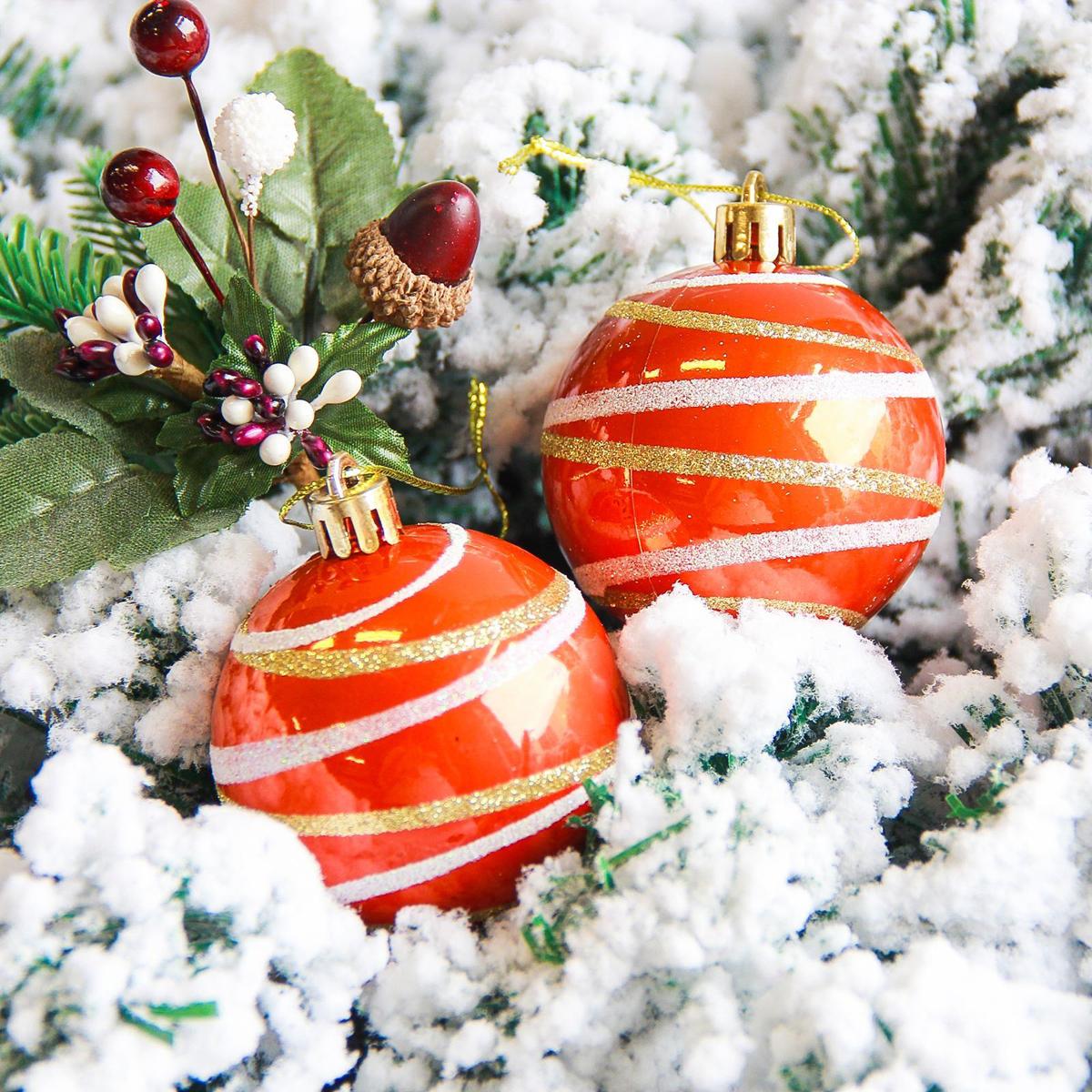 Набор новогодних подвесных украшений Sima-land Орион, цвет: оранжевый, диаметр 6 см, 6 шт2178185Набор новогодних подвесных украшений Sima-land отлично подойдет для декорации вашего дома и новогодней ели. С помощью специальной петельки украшение можно повесить в любом понравившемся вам месте. Но, конечно, удачнее всего оно будет смотреться на праздничной елке. Елочная игрушка - символ Нового года. Она несет в себе волшебство и красоту праздника. Создайте в своем доме атмосферу веселья и радости, украшая новогоднюю елку нарядными игрушками, которые будут из года в год накапливать теплоту воспоминаний.