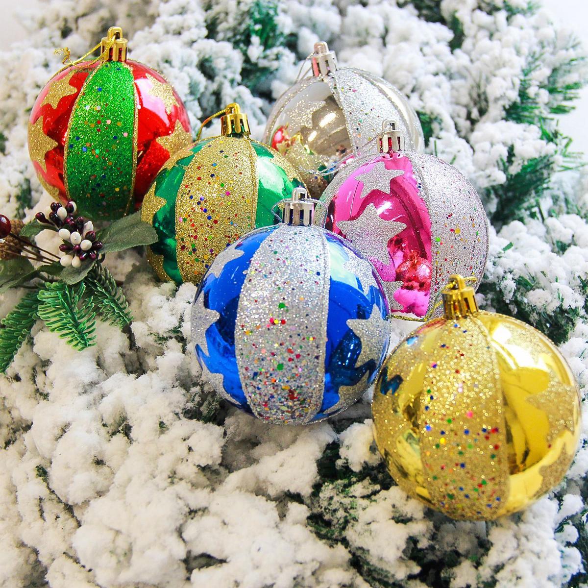 Набор новогодних подвесных украшений Sima-land Созвездие, диаметр 8 см, 6 шт2178188Невозможно представить нашу жизнь без праздников! Мы всегда ждём их и предвкушаем, обдумываем, как проведём памятный день, тщательно выбираем подарки и аксессуары, ведь именно они создают и поддерживают торжественный настрой.