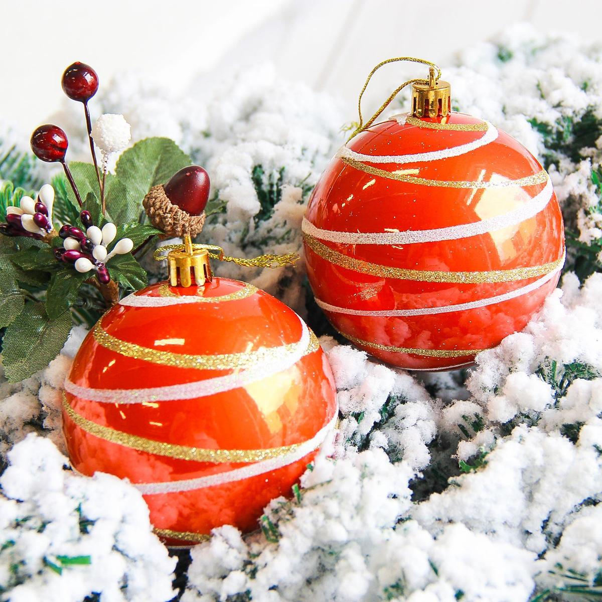 Набор новогодних подвесных украшений Sima-land Орион, цвет: оранжевый, диаметр 8 см, 6 шт. 21781932178193Набор новогодних подвесных украшений Sima-land отлично подойдет для декорации вашего дома и новогодней ели. С помощью специальной петельки украшение можно повесить в любом понравившемся вам месте. Но, конечно, удачнее всего оно будет смотреться на праздничной елке. Елочная игрушка - символ Нового года. Она несет в себе волшебство и красоту праздника. Создайте в своем доме атмосферу веселья и радости, украшая новогоднюю елку нарядными игрушками, которые будут из года в год накапливать теплоту воспоминаний.
