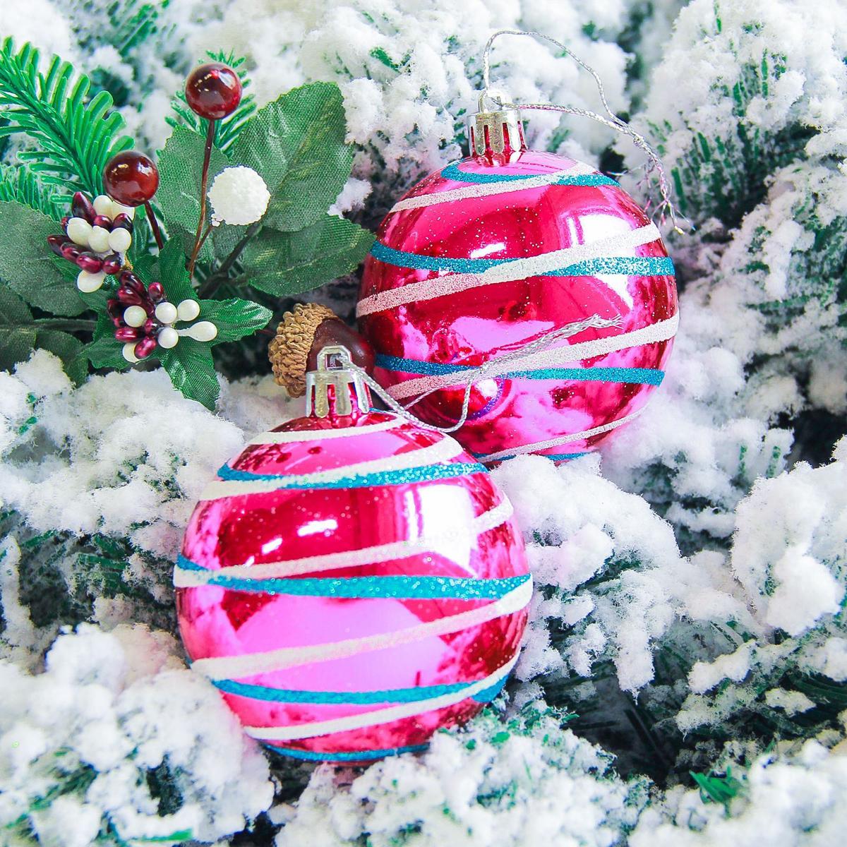 Набор новогодних подвесных украшений Sima-land Орион, цвет: малиновый, диаметр 7 см, 6 шт2178199Набор новогодних подвесных украшений Sima-land отлично подойдет для декорации вашего дома и новогодней ели. С помощью специальной петельки украшение можно повесить в любом понравившемся вам месте. Но, конечно, удачнее всего оно будет смотреться на праздничной елке. Елочная игрушка - символ Нового года. Она несет в себе волшебство и красоту праздника. Создайте в своем доме атмосферу веселья и радости, украшая новогоднюю елку нарядными игрушками, которые будут из года в год накапливать теплоту воспоминаний.