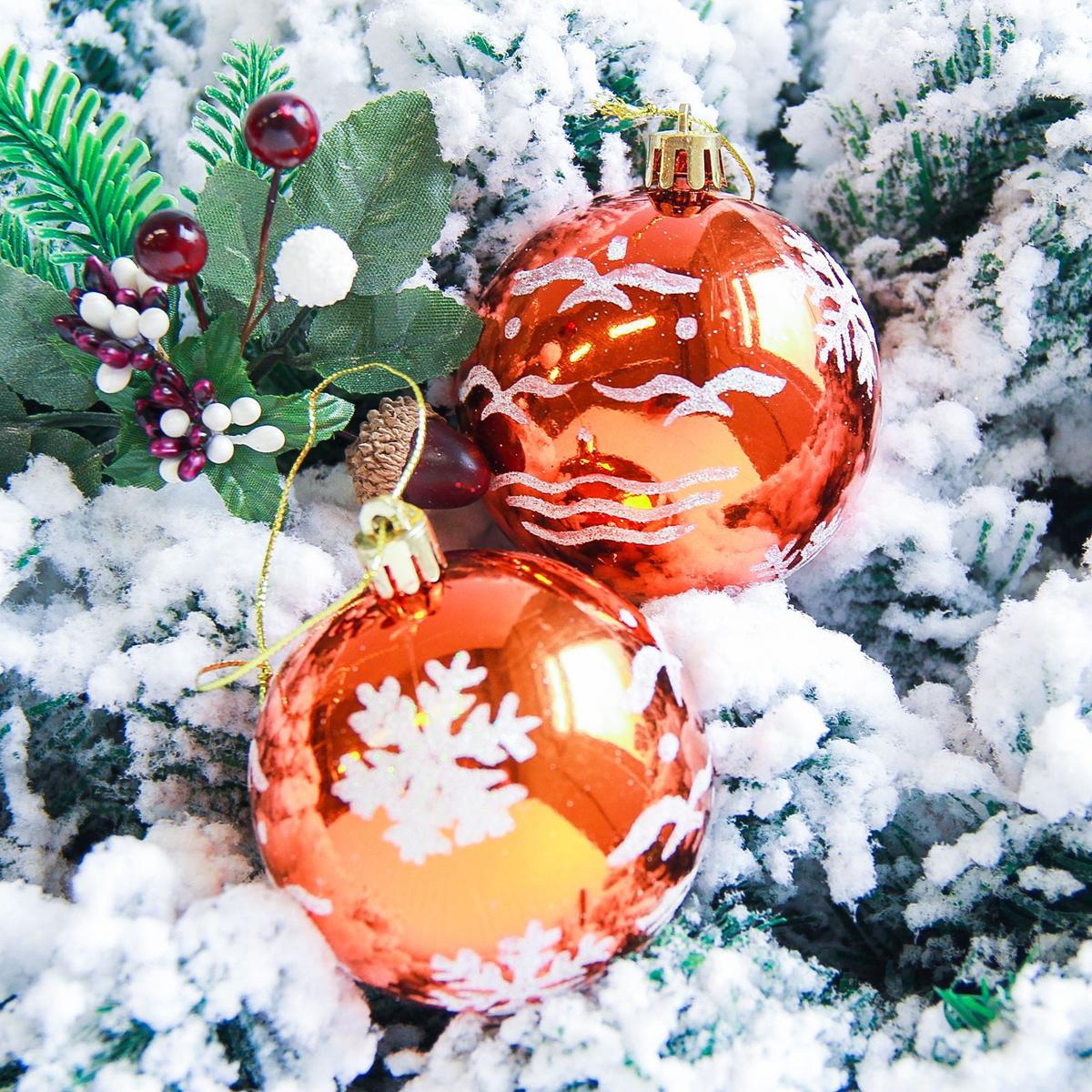 Набор новогодних подвесных украшений Sima-land Снегопад, цвет: оранжевый, диаметр 7 см, 6 шт2178202Набор новогодних подвесных украшений Sima-land отлично подойдет для декорации вашего дома и новогодней ели. С помощью специальной петельки украшение можно повесить в любом понравившемся вам месте. Но, конечно, удачнее всего оно будет смотреться на праздничной елке. Елочная игрушка - символ Нового года. Она несет в себе волшебство и красоту праздника. Создайте в своем доме атмосферу веселья и радости, украшая новогоднюю елку нарядными игрушками, которые будут из года в год накапливать теплоту воспоминаний.