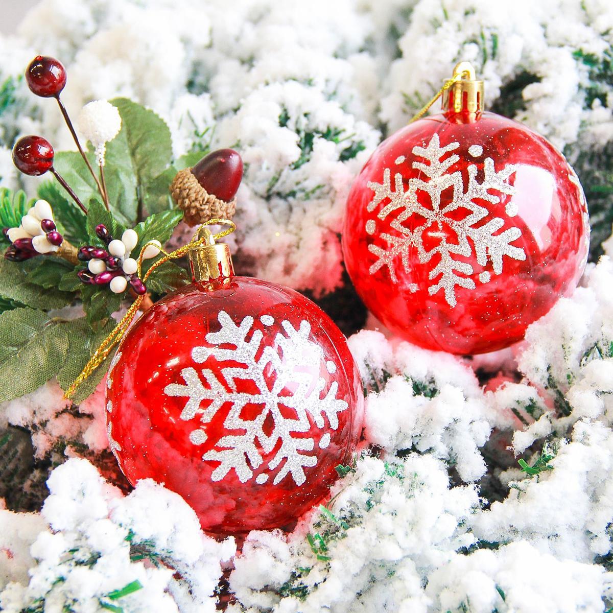 Набор новогодних подвесных украшений Sima-land Снежинка, диаметр 7 см, 6 шт2178205Набор новогодних подвесных украшений Sima-land отлично подойдет для декорации вашего дома и новогодней ели. С помощью специальной петельки украшение можно повесить в любом понравившемся вам месте. Но, конечно, удачнее всего оно будет смотреться на праздничной елке. Елочная игрушка - символ Нового года. Она несет в себе волшебство и красоту праздника. Создайте в своем доме атмосферу веселья и радости, украшая новогоднюю елку нарядными игрушками, которые будут из года в год накапливать теплоту воспоминаний.