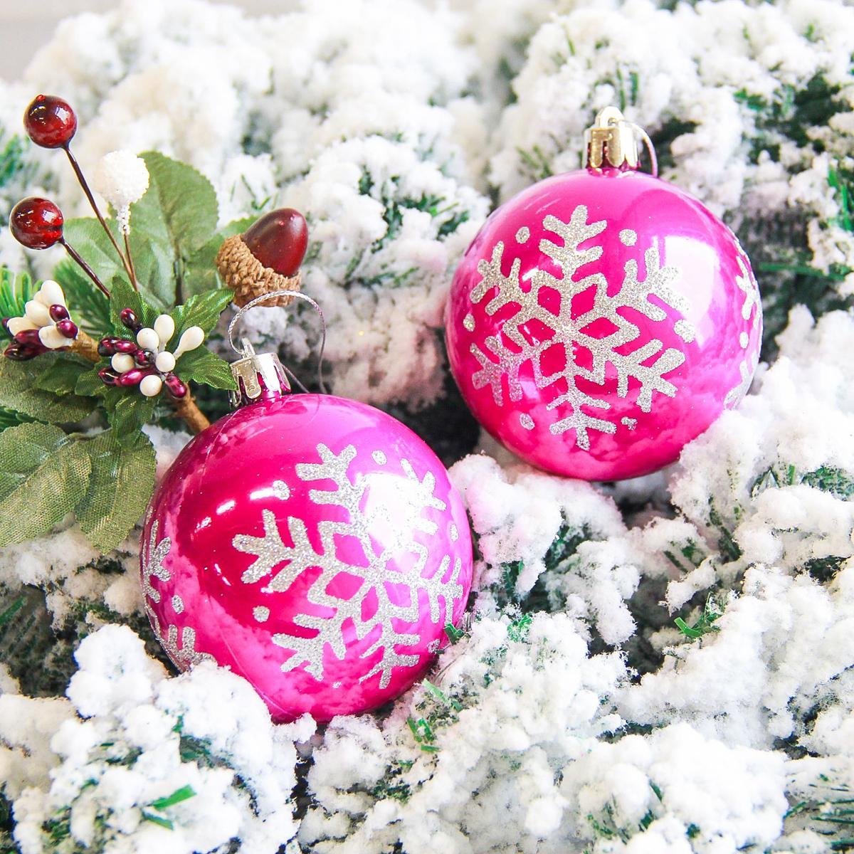 Набор новогодних подвесных украшений Sima-land Снежинка. Капель, цвет: малиновый, диаметр 7 см, 6 шт2178208Набор новогодних подвесных украшений Sima-land отлично подойдет для декорации вашего дома и новогодней ели. С помощью специальной петельки украшение можно повесить в любом понравившемся вам месте. Но, конечно, удачнее всего оно будет смотреться на праздничной елке. Елочная игрушка - символ Нового года. Она несет в себе волшебство и красоту праздника. Создайте в своем доме атмосферу веселья и радости, украшая новогоднюю елку нарядными игрушками, которые будут из года в год накапливать теплоту воспоминаний.