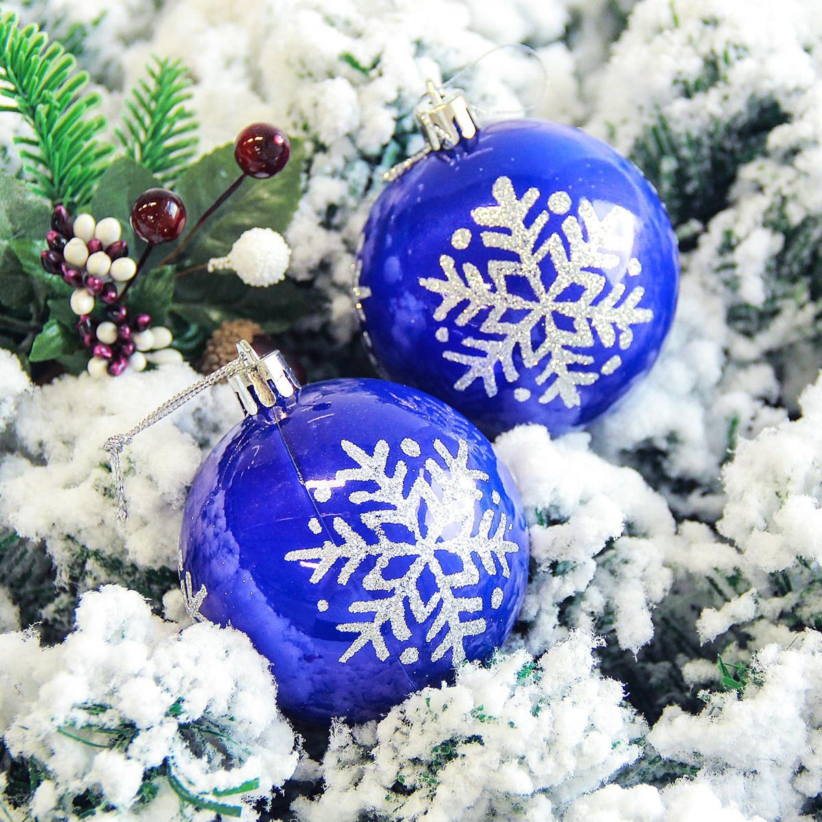 Набор новогодних подвесных украшений Sima-land Снежинка. Капель, цвет: синий, диаметр 7 см, 6 шт2178210Невозможно представить нашу жизнь без праздников! Мы всегда ждём их и предвкушаем, обдумываем, как проведём памятный день, тщательно выбираем подарки и аксессуары, ведь именно они создают и поддерживают торжественный настрой.