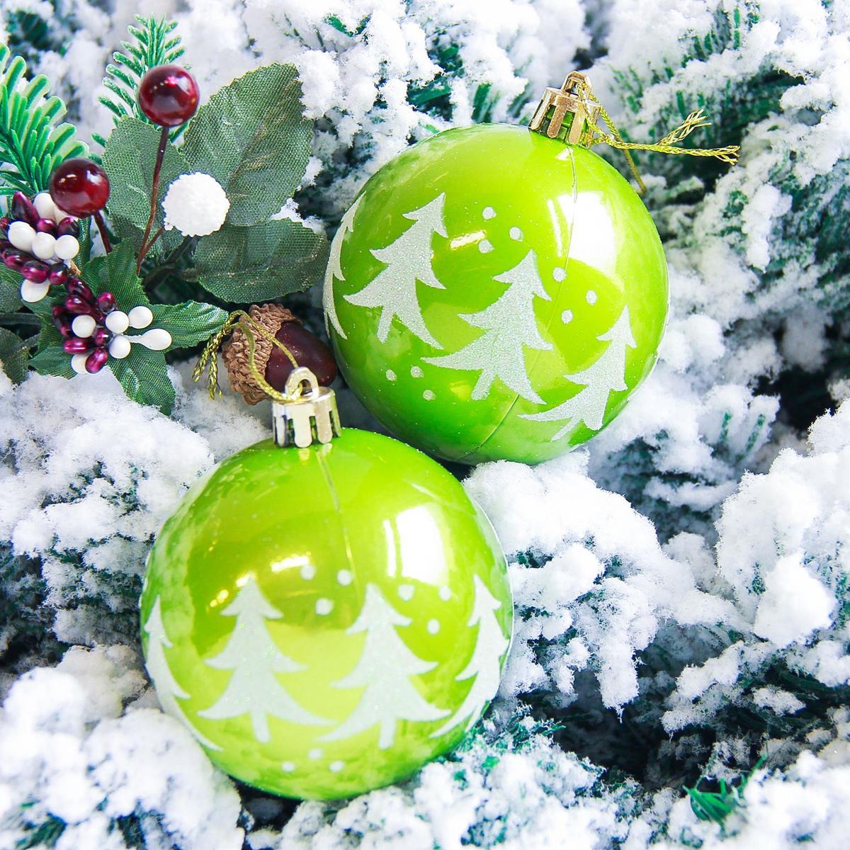 Набор новогодних подвесных украшений Sima-land Гордый олень, цвет: зеленый, диаметр 7 см, 6 шт2178216Невозможно представить нашу жизнь без праздников! Мы всегда ждём их и предвкушаем, обдумываем, как проведём памятный день, тщательно выбираем подарки и аксессуары, ведь именно они создают и поддерживают торжественный настрой.