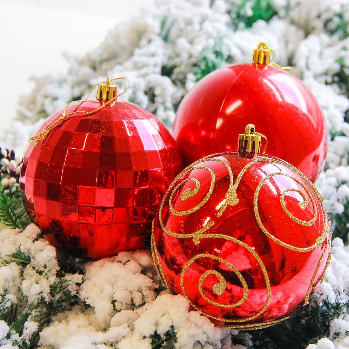 Набор новогодних подвесных украшений Sima-land Чары, цвет: красный, диаметр 10 см, 4 шт2178222Набор новогодних подвесных украшений Sima-land отлично подойдет для декорации вашего дома и новогодней ели. С помощью специальной петельки украшение можно повесить в любом понравившемся вам месте. Но, конечно, удачнее всего оно будет смотреться на праздничной елке. Елочная игрушка - символ Нового года. Она несет в себе волшебство и красоту праздника. Создайте в своем доме атмосферу веселья и радости, украшая новогоднюю елку нарядными игрушками, которые будут из года в год накапливать теплоту воспоминаний.