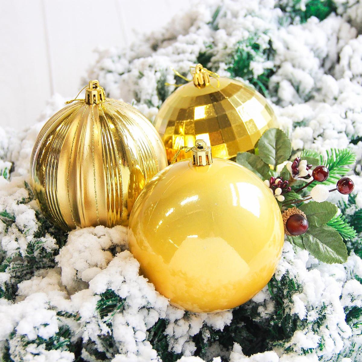 Набор новогодних подвесных украшений Sima-land Чары, цвет: золотистый, диаметр 10 см, 4 шт2178223Набор новогодних подвесных украшений Sima-land отлично подойдет для декорации вашего дома и новогодней ели. С помощью специальной петельки украшение можно повесить в любом понравившемся вам месте. Но, конечно, удачнее всего оно будет смотреться на праздничной елке. Елочная игрушка - символ Нового года. Она несет в себе волшебство и красоту праздника. Создайте в своем доме атмосферу веселья и радости, украшая новогоднюю елку нарядными игрушками, которые будут из года в год накапливать теплоту воспоминаний.