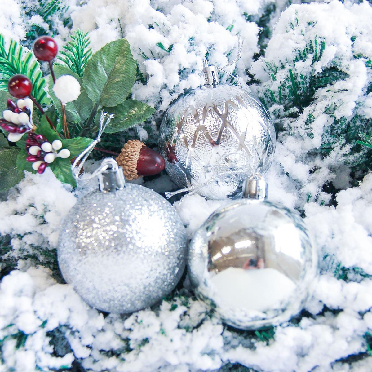 Набор новогодних подвесных украшений Sima-land Анданте, цвет: серебристый, диаметр 6 см, 6 шт2178232Новогодние украшения Sima-land изготовлены из пластика. Изделия имеют плотный корпус, поэтому не разобьются при падении.Невозможно представить нашу жизнь без праздников! Новогодние украшения несут в себе волшебство и красоту праздника. Создайте в своем доме атмосферу тепла, веселья и радости, украшая его всей семьей.В наборе 6 штук.