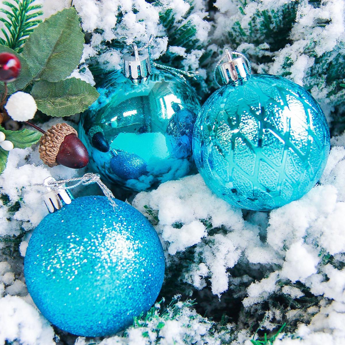 Набор новогодних подвесных украшений Sima-land Анданте, цвет: голубой, диаметр 6 см, 6 шт2178233Новогодние украшения Sima-land изготовлены из пластика. Изделия имеют плотный корпус, поэтому не разобьются при падении.Невозможно представить нашу жизнь без праздников! Новогодние украшения несут в себе волшебство и красоту праздника. Создайте в своем доме атмосферу тепла, веселья и радости, украшая его всей семьей.В наборе 6 штук.