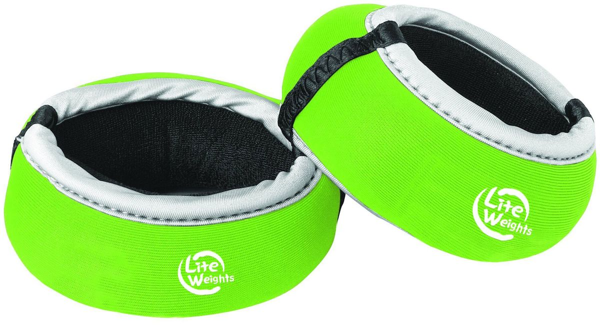 Утяжелители для рук Lite Weights 5825LW, цвет: салатовый, 0,25 кг, 2 шт5825LWУтяжелители для рук Lite Weights прочно и комфортно крепятся на запястьях, обеспечивая нагрузку, совершенно не сковывая движения.Идеальны в использовании при беге трусцой, занятиях аэробикой, оздоровительной гимнастикой и фитнесом.Материал внешний: неопрен, спандекс, полиэстер.Наполнитель: металлическая стружка, песок.
