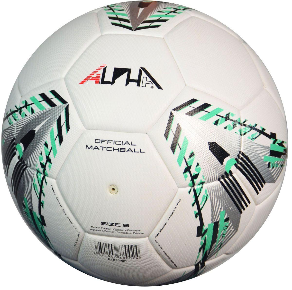Мяч футбольный AlphaKepers EliteMatch, цвет: белый, серебристый. Размер 5. 8101781017Профессиональный футбольный мяч AlphaKeepers произведен в строгом соответствии нормами FIFA. Произведен по технологии TermoTech (технология высокотемпературногоспаивания панелей), обладает долговечностью и нулевой гигроскопичностью.